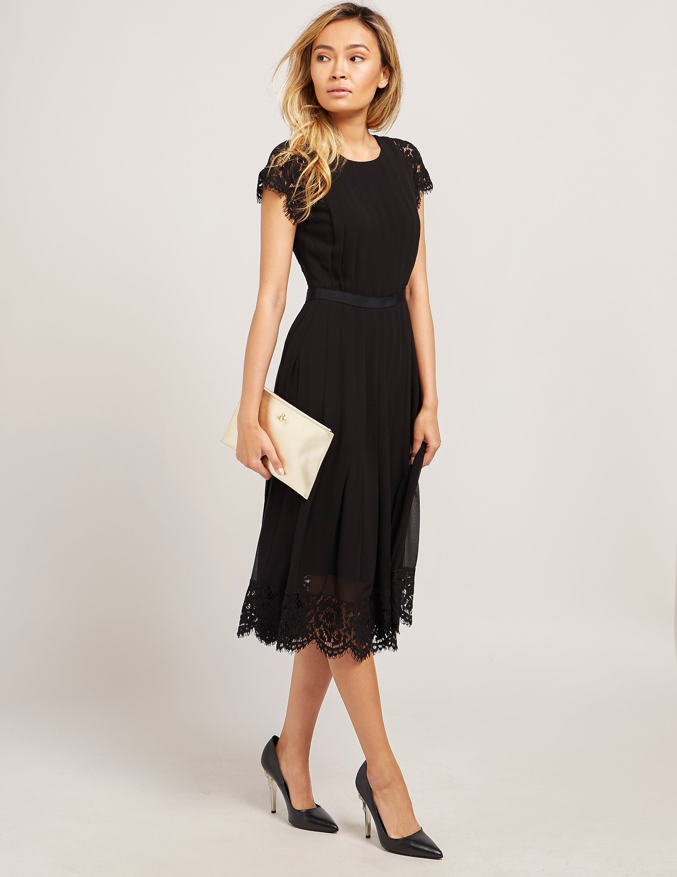 Paul Smith Floral Lace Pleated Dress