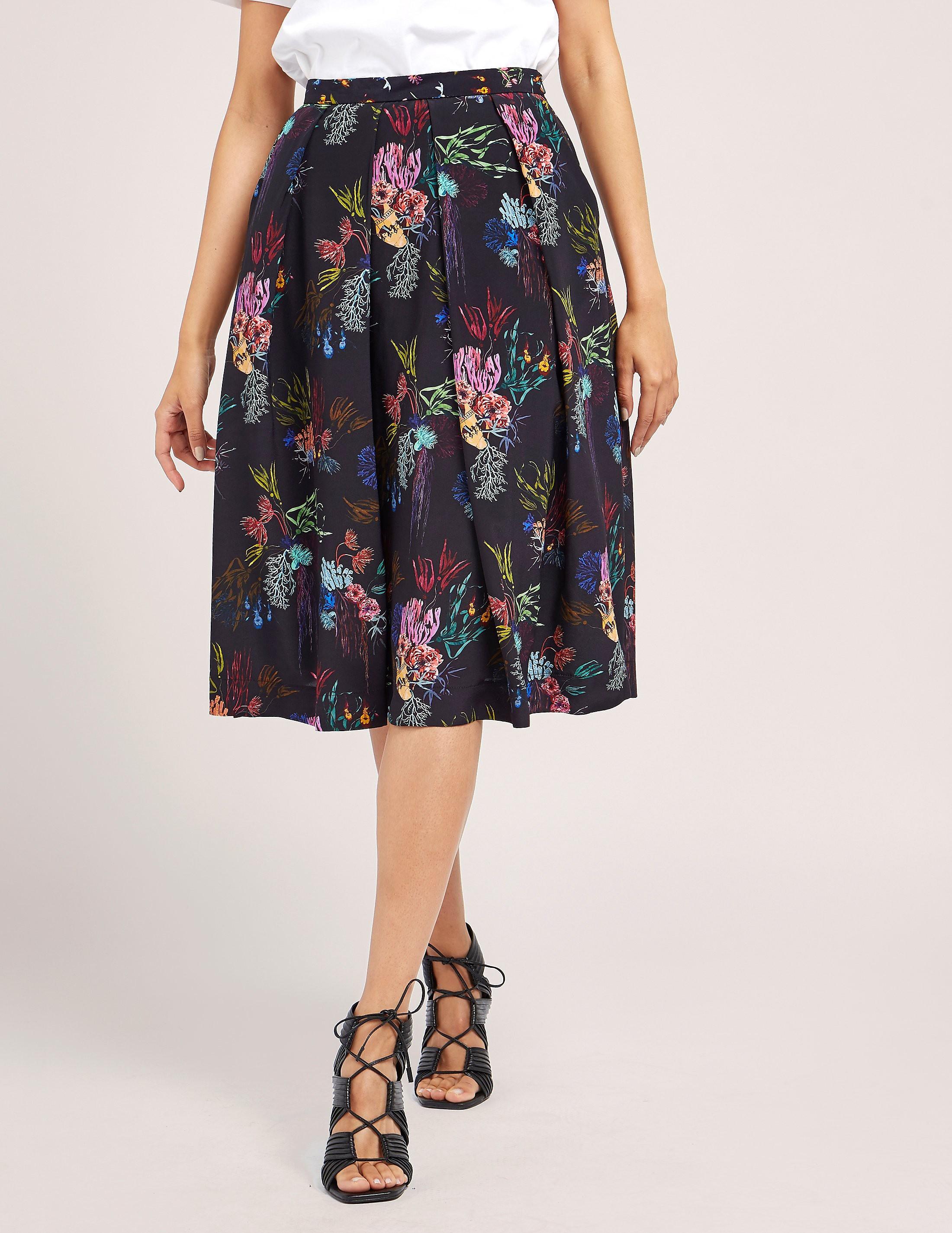 Paul Smith Coral Print Skirt