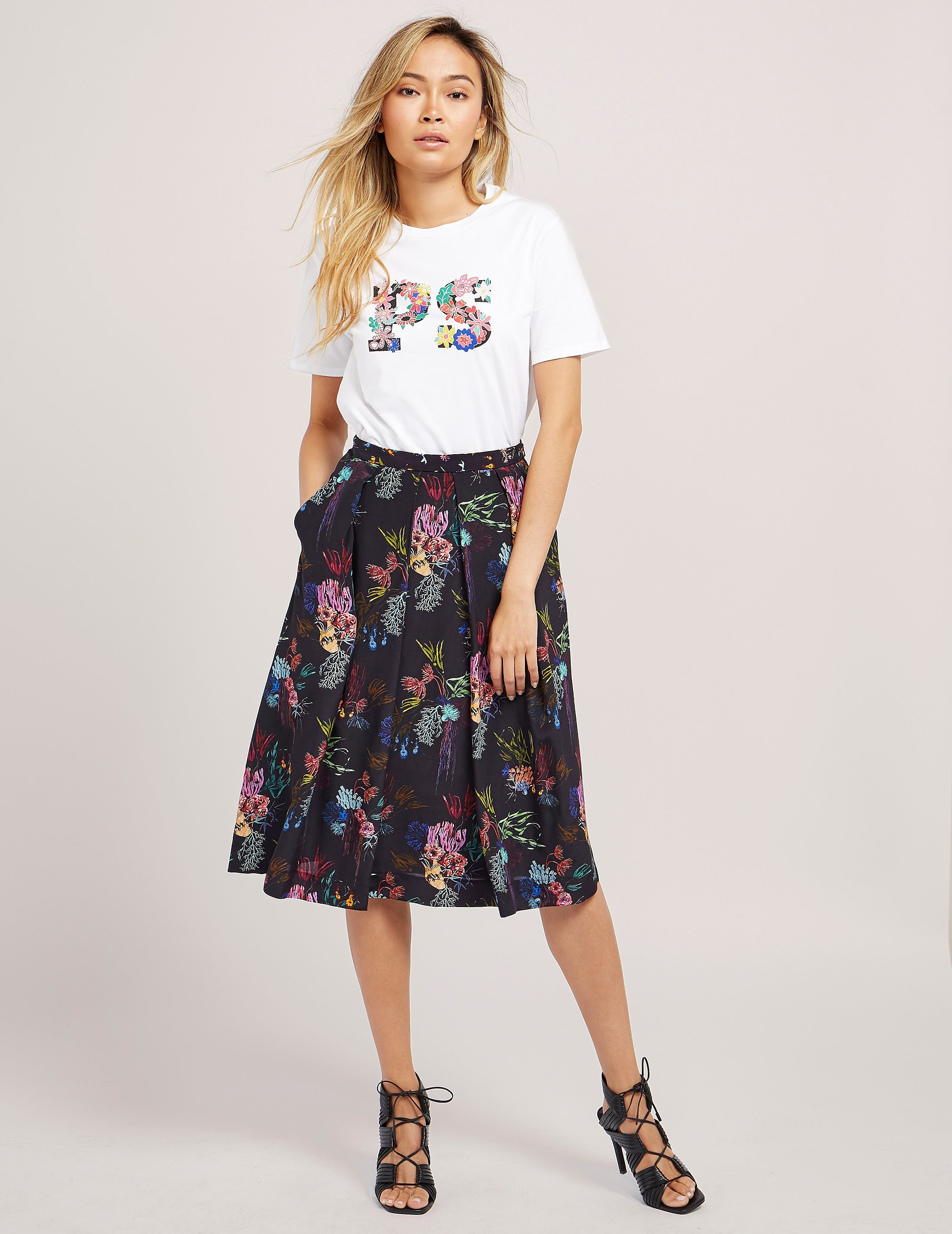 PS Paul Smith Coral Print Skirt