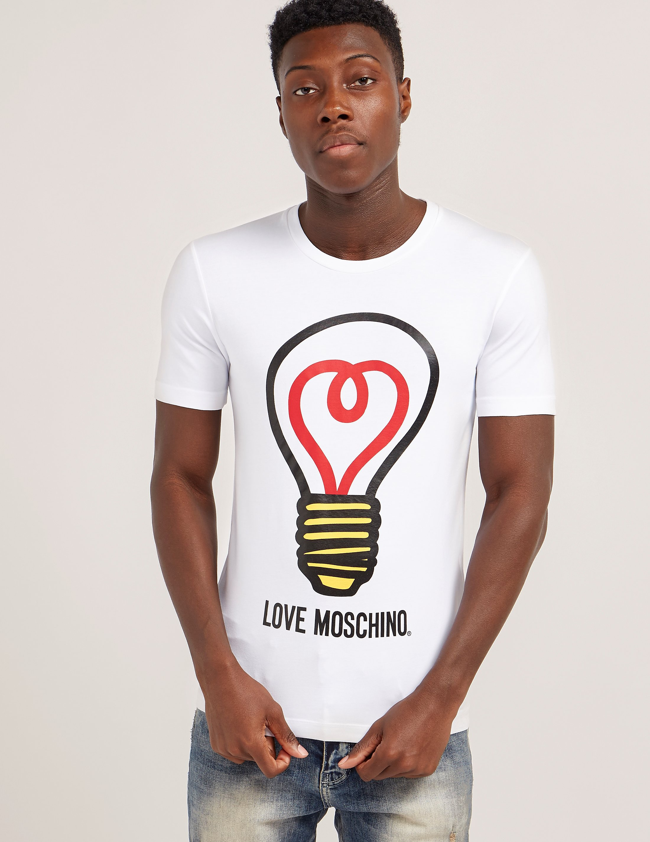 Love Moschino Light Bulb Print Short Sleeve T-Shirt