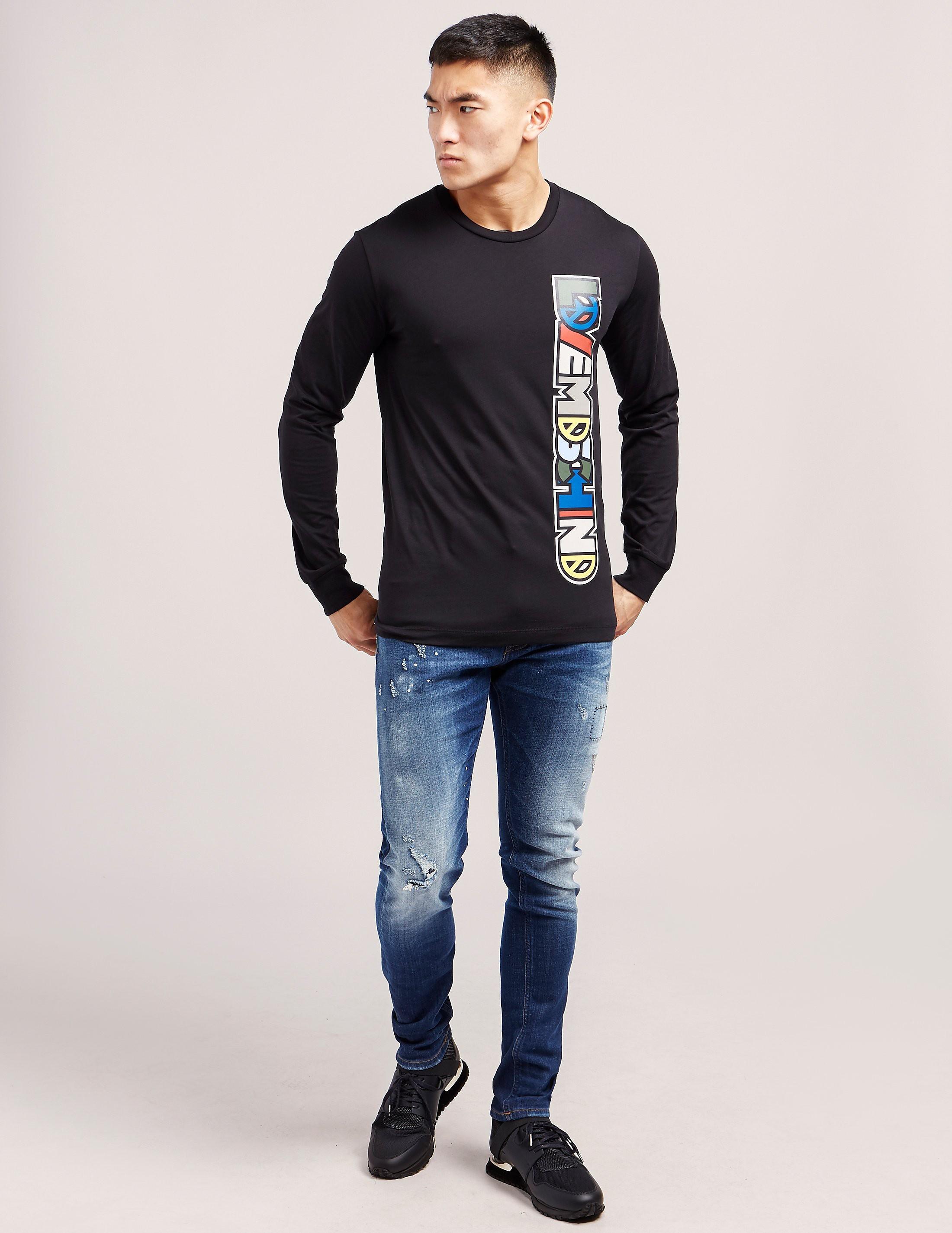 Love Moschino Graffiti Long Sleeve T-Shirt