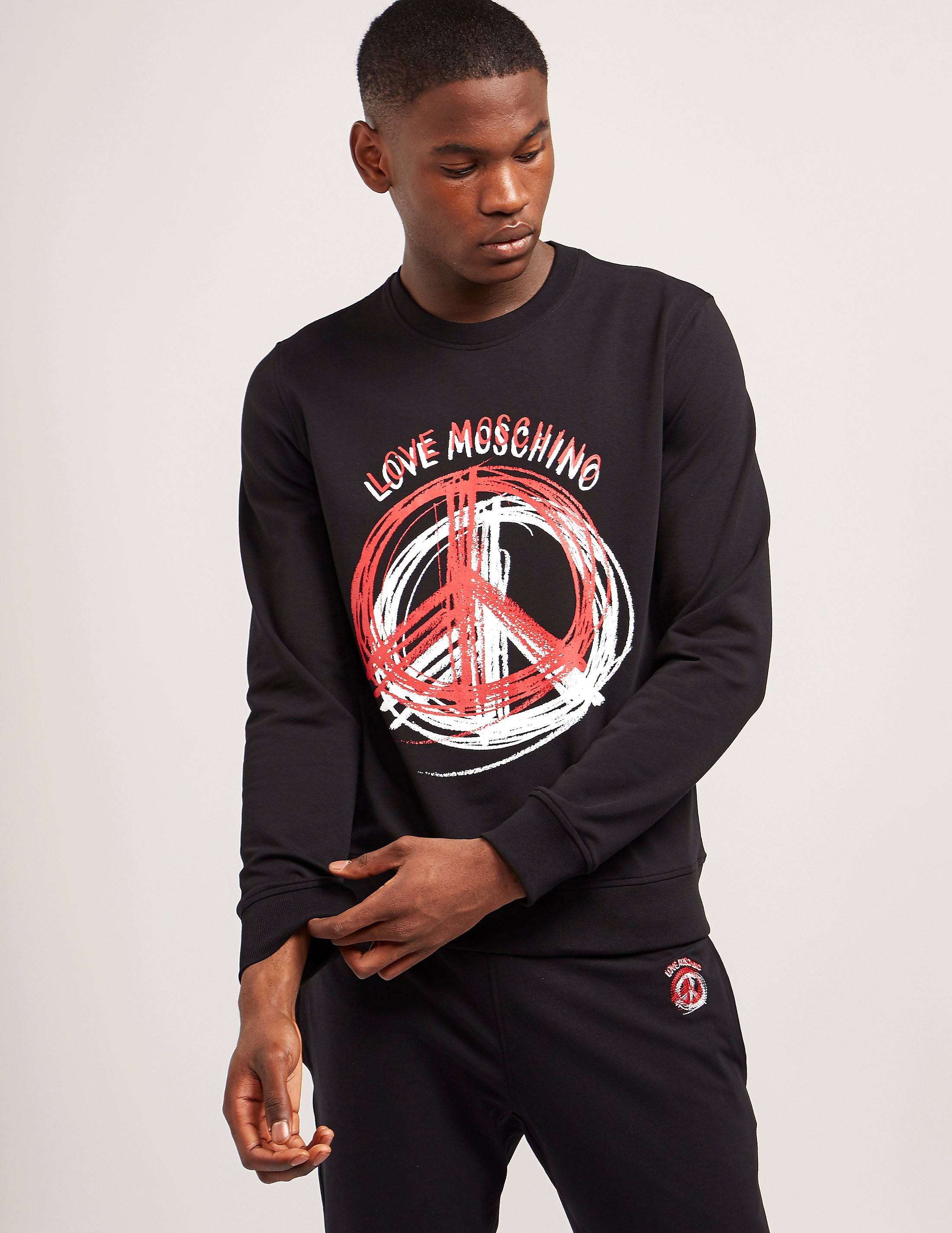 Love Moschino Stencil Peace Sweatshirt