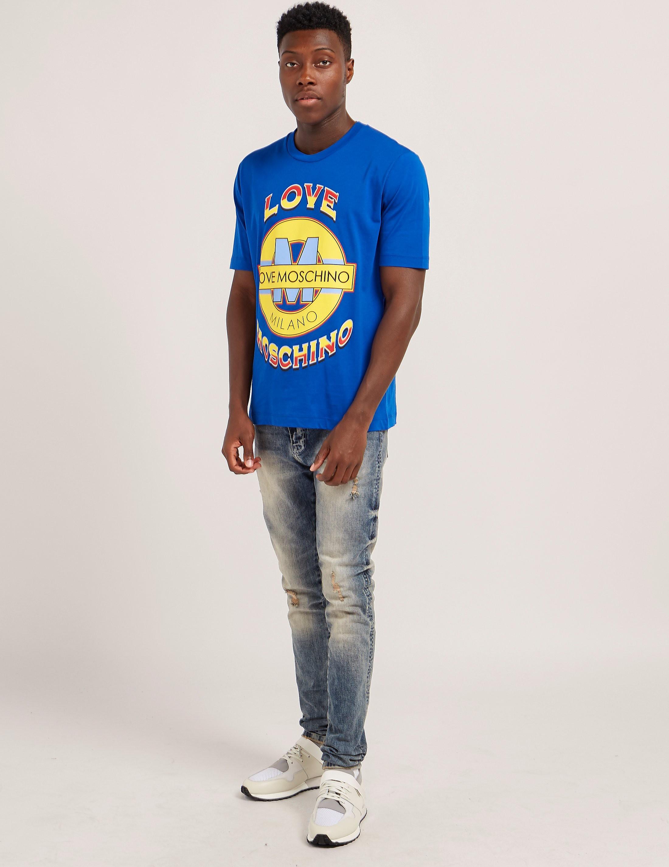 Love Moschino Medallion Short Sleeve T-Shirt