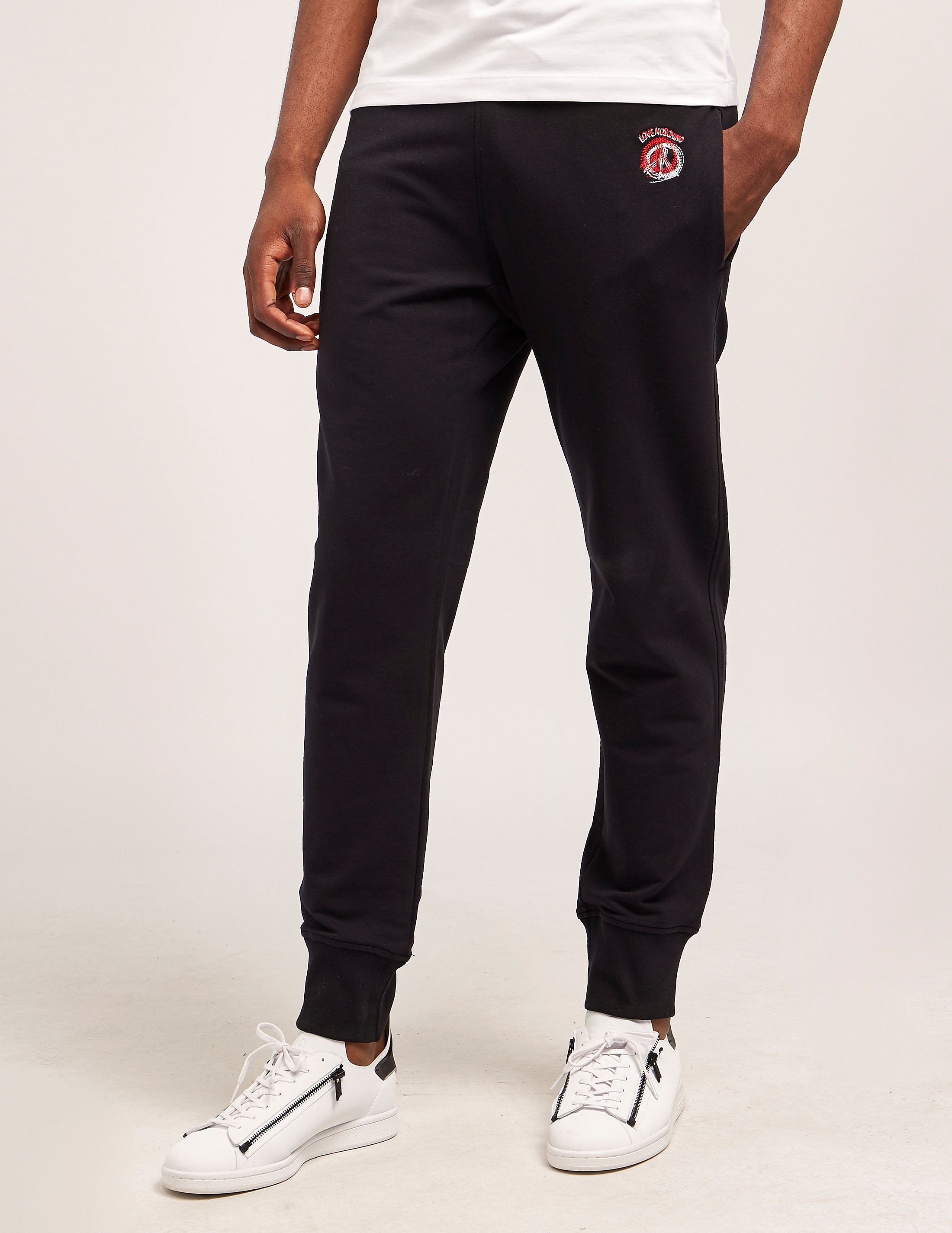 Love Moschino Stencil Peace Cuffed Track Pants