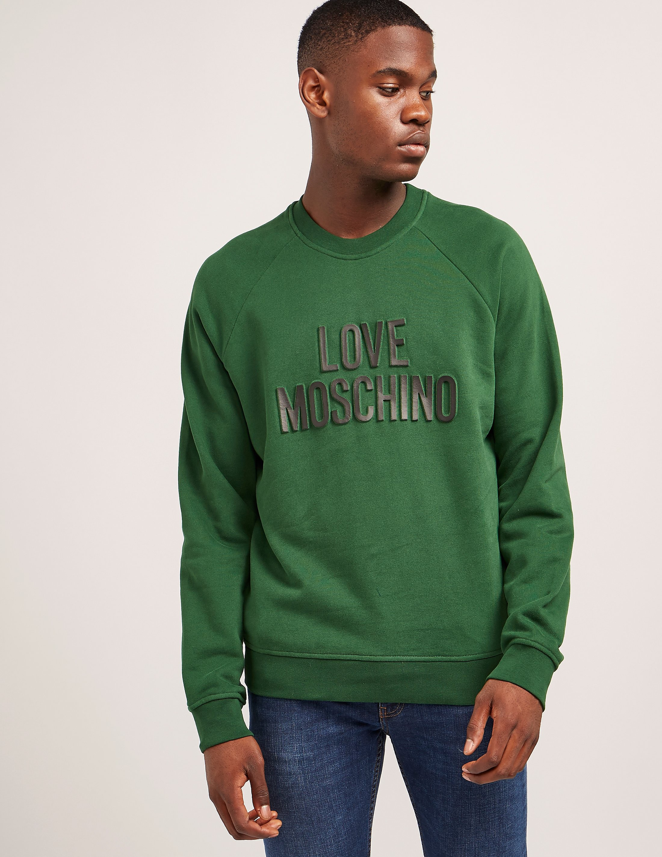 Love Moschino Logo Embossed Sweatshirt