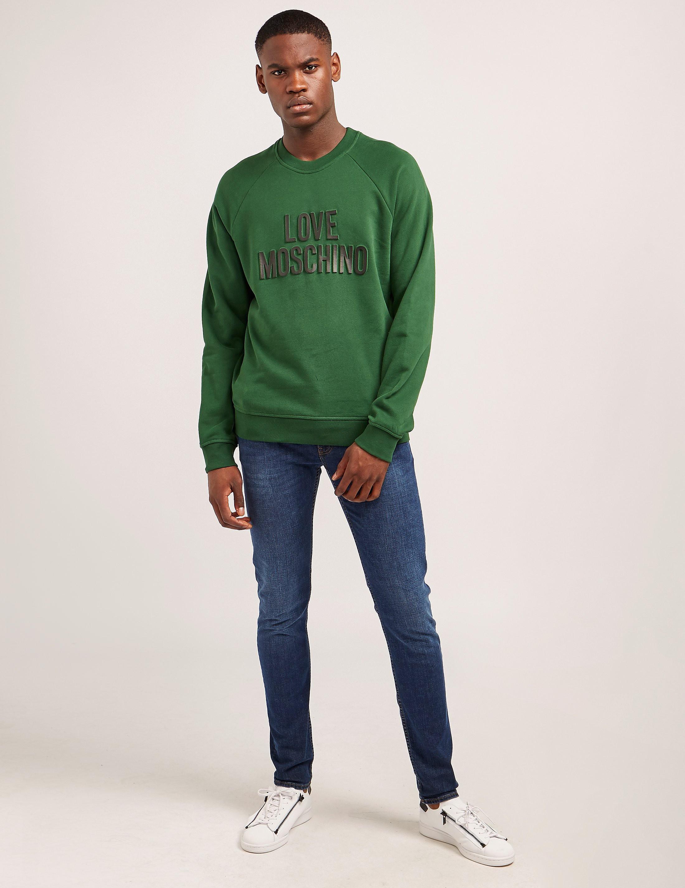 Love Moschino Logo Embossed Sweatshirt