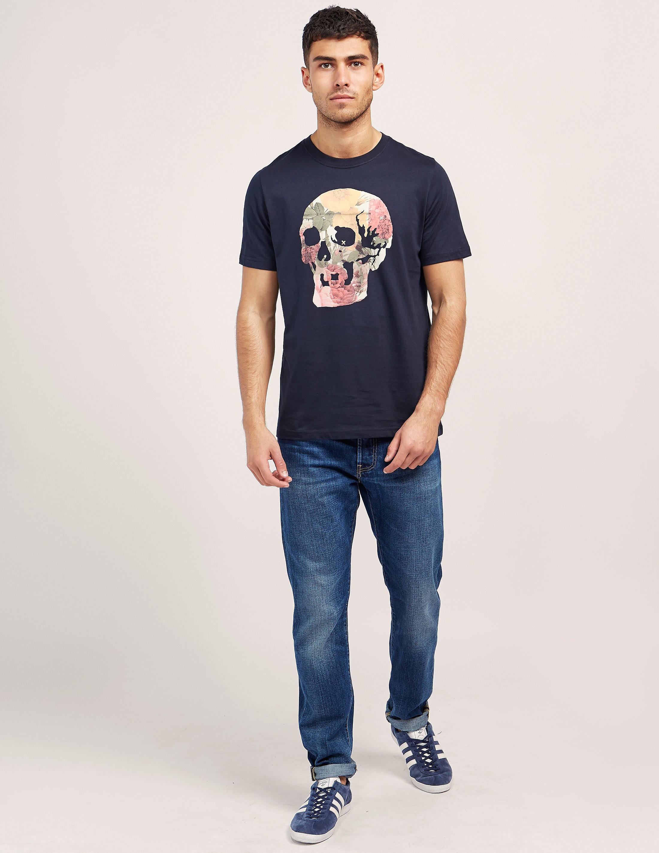 Paul Smith Floral Skull Short Sleeve T-Shirt