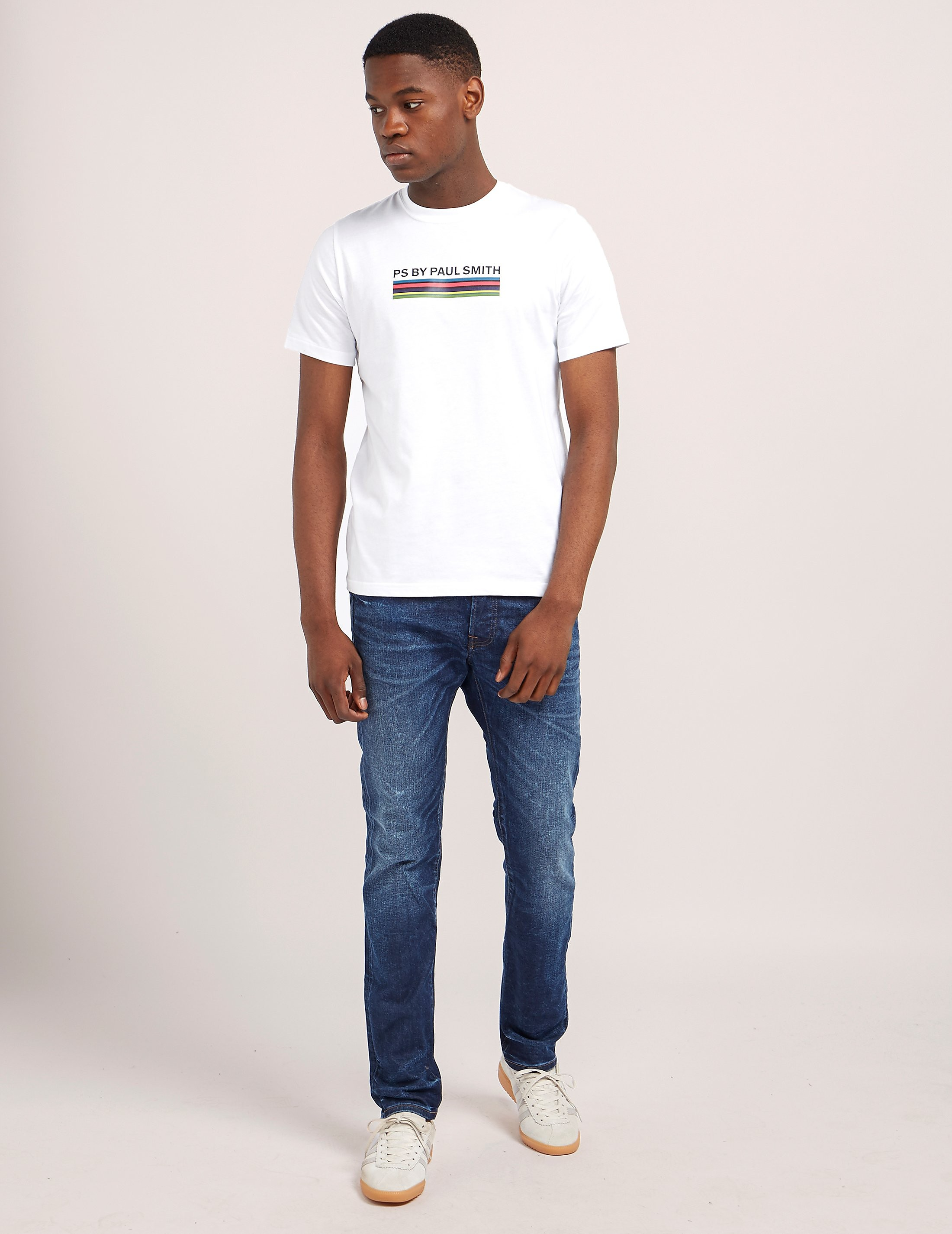 Paul Smith Stripe Print Short Sleeve T-Shirt