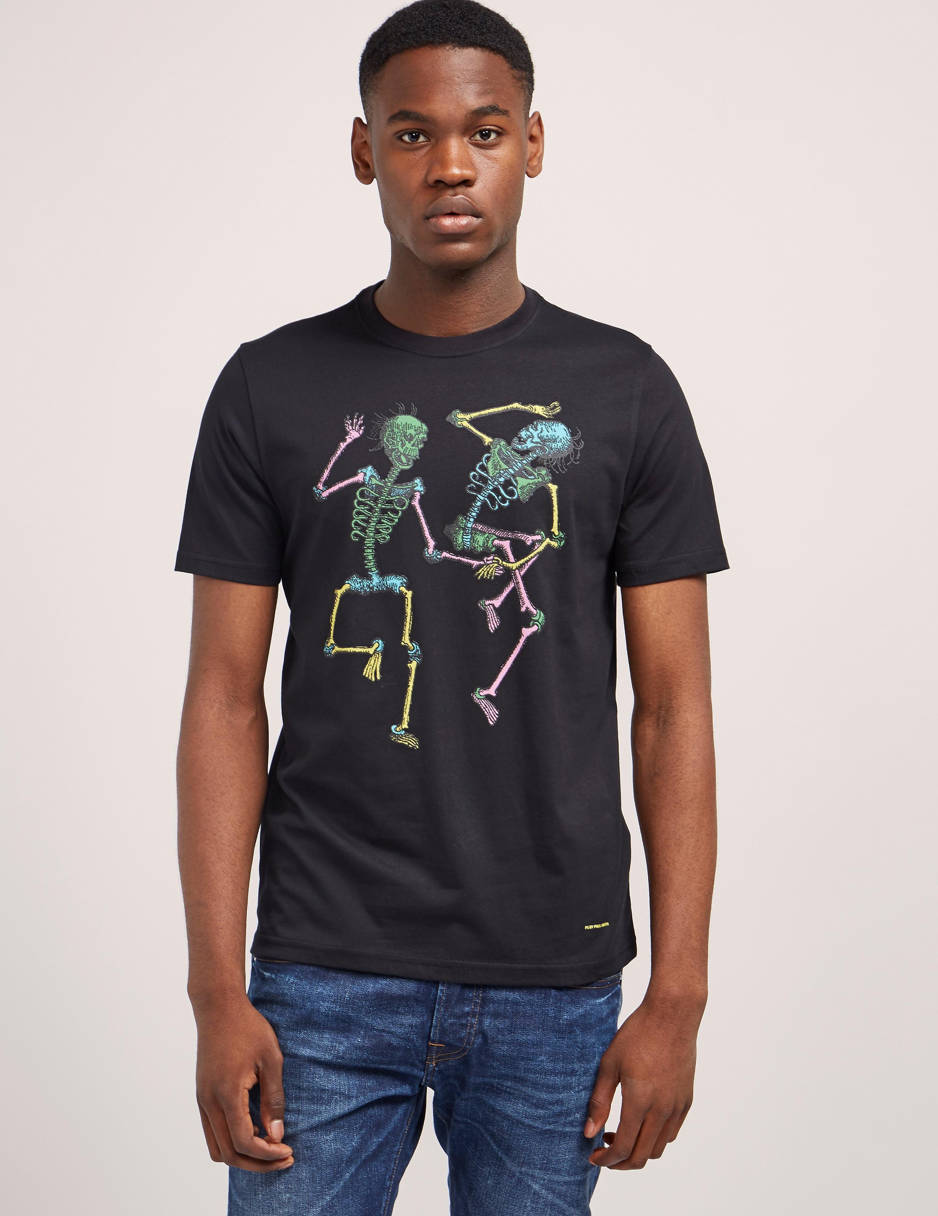 Paul Smith Dancing Skeletons Short Sleeve T-Shirt