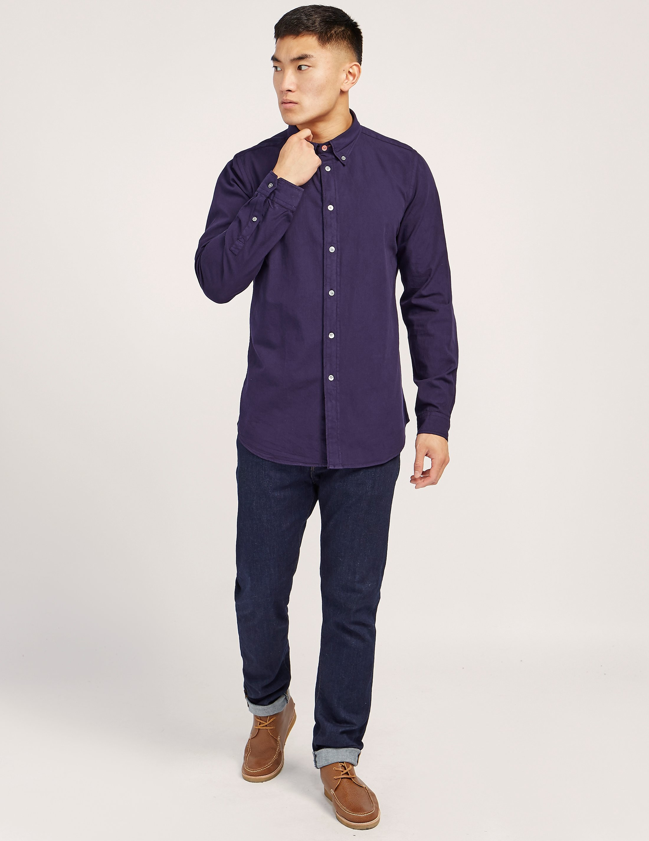 Paul Smith Garment Dyed Long Sleeve Shirt