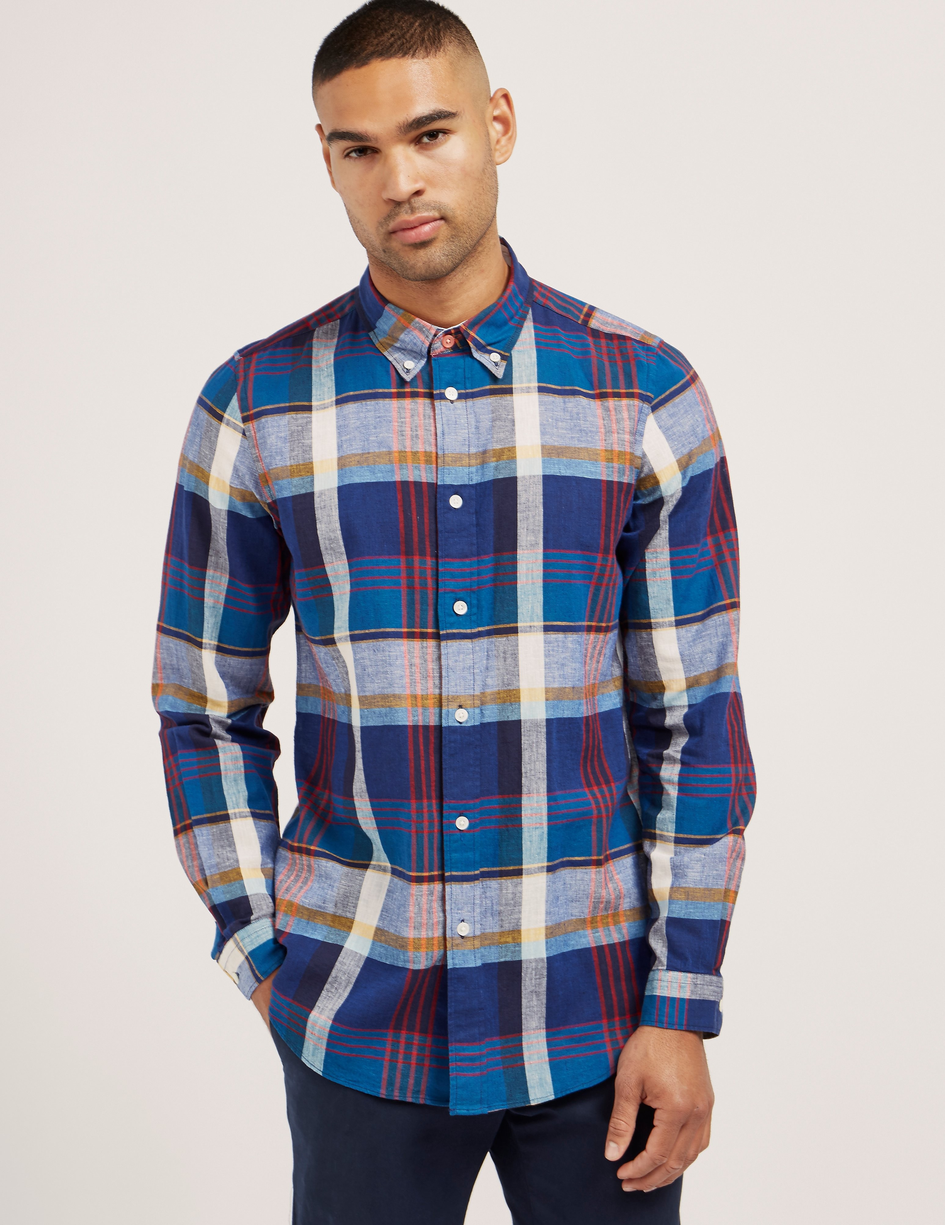 Paul Smith Large Check Long Sleeve Shirt