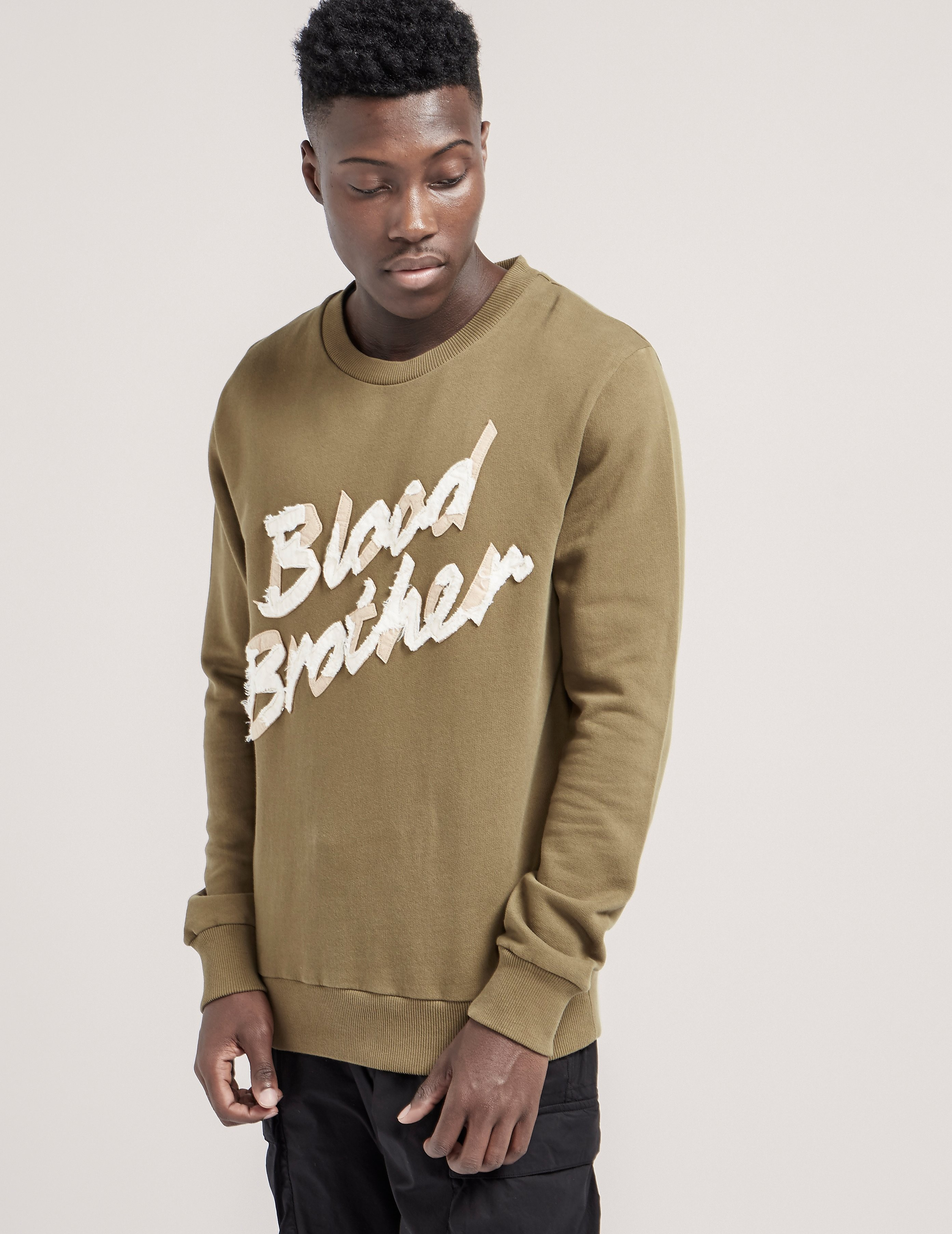 Blood Brother Felt Crew Sweatshirt