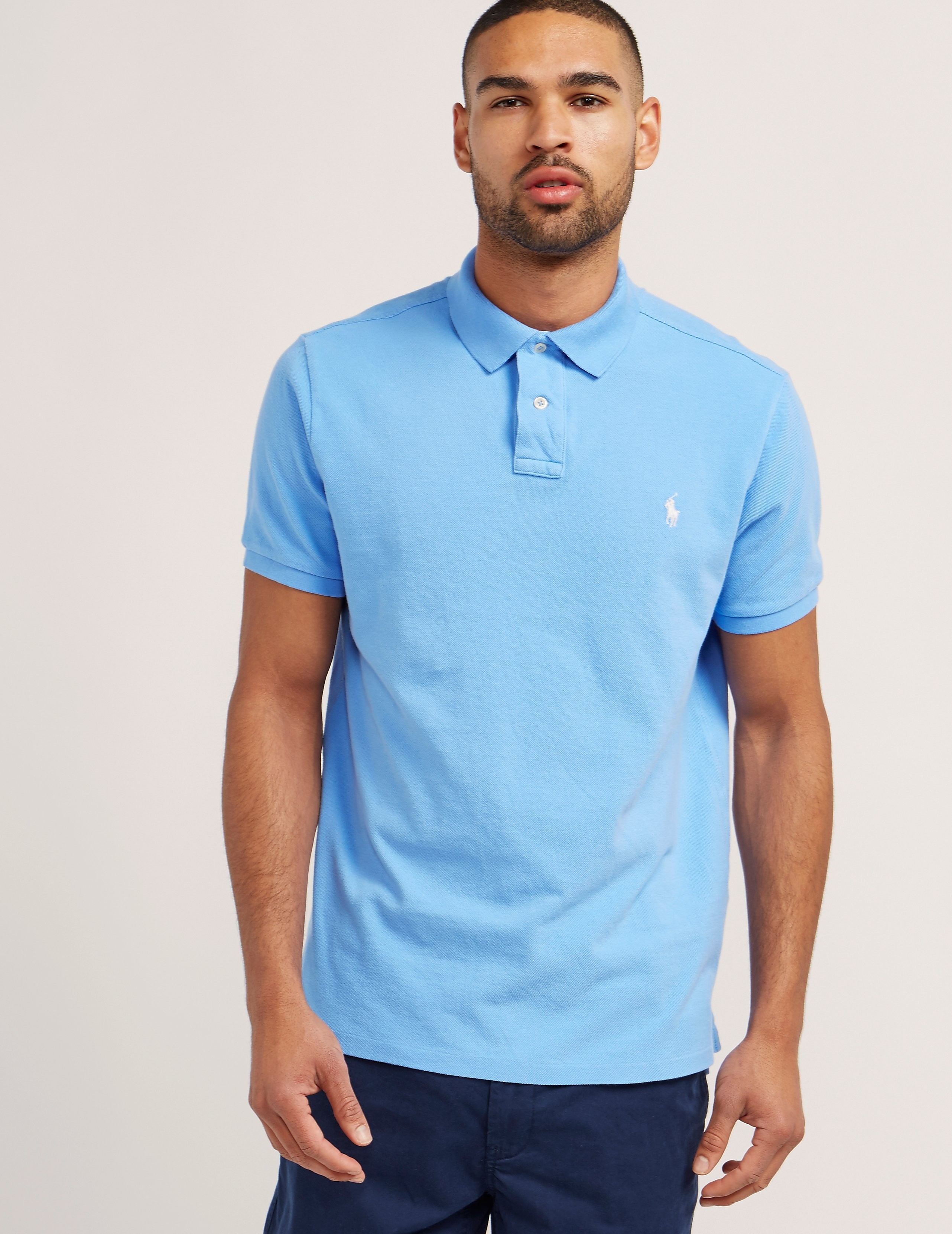 Polo Ralph Lauren Weathered Mesh Short Sleeve Polo Shirt