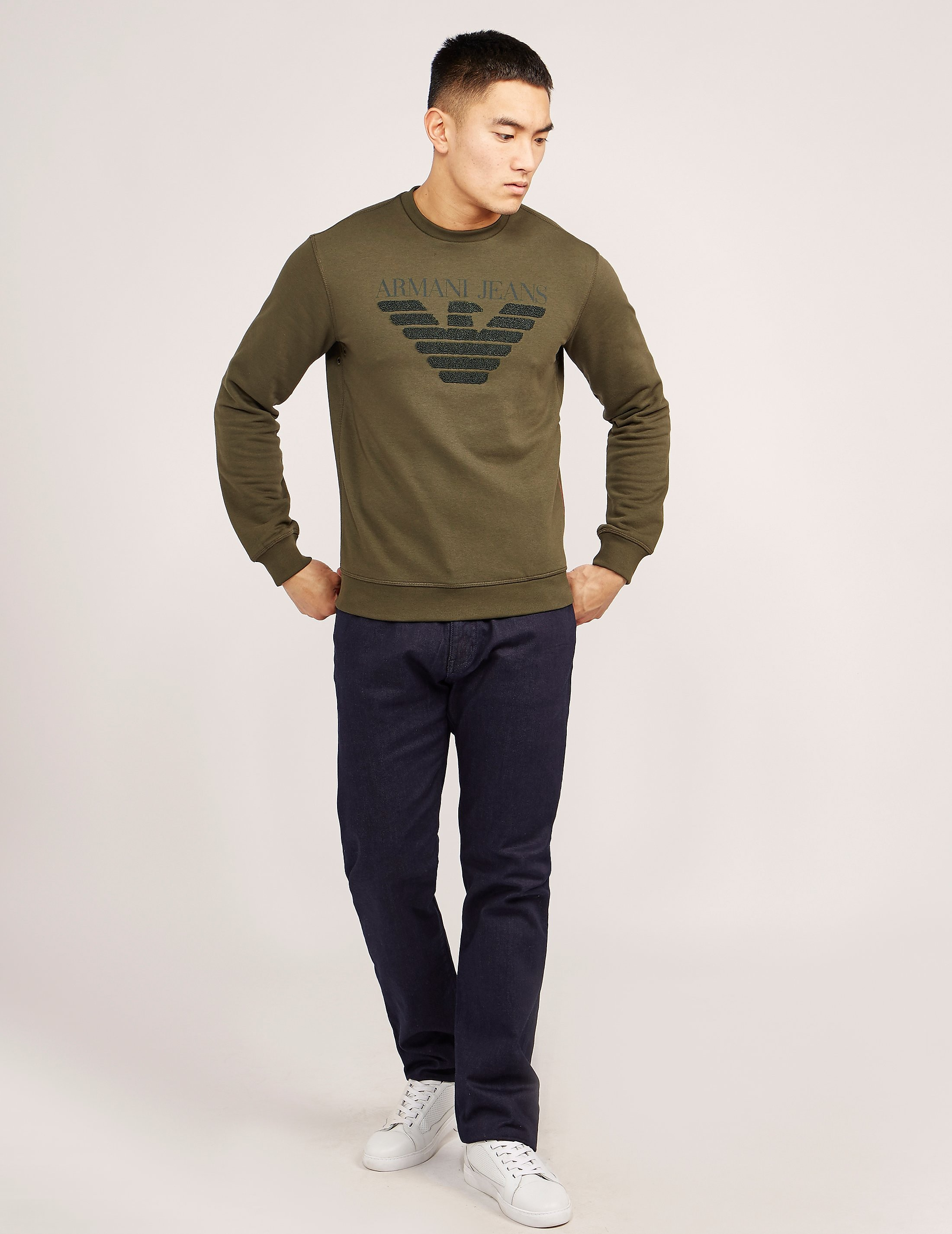 Armani Jeans Embroidered Eagle Sweatshirt