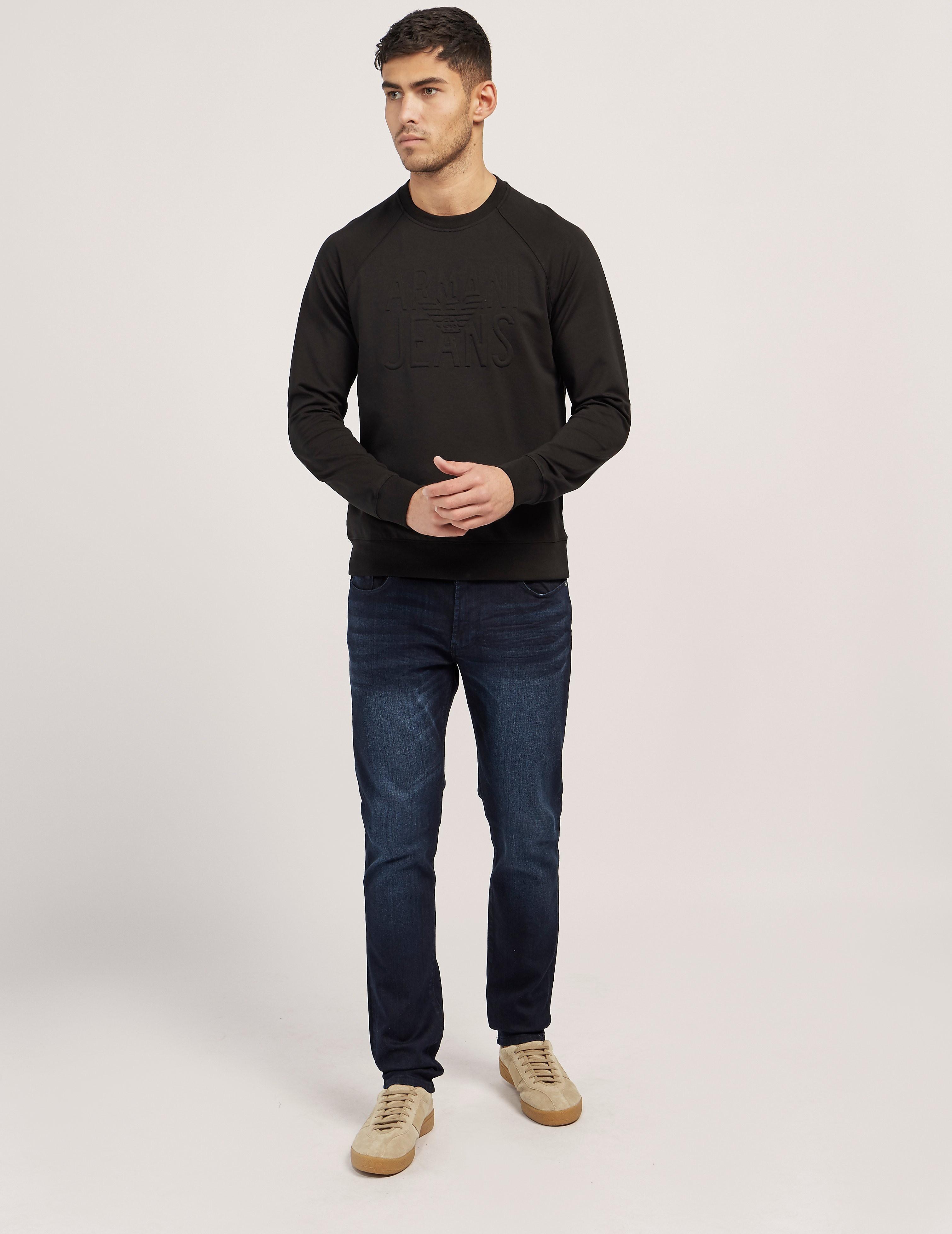 Armani Jeans Tonal Logo Sweatshirt