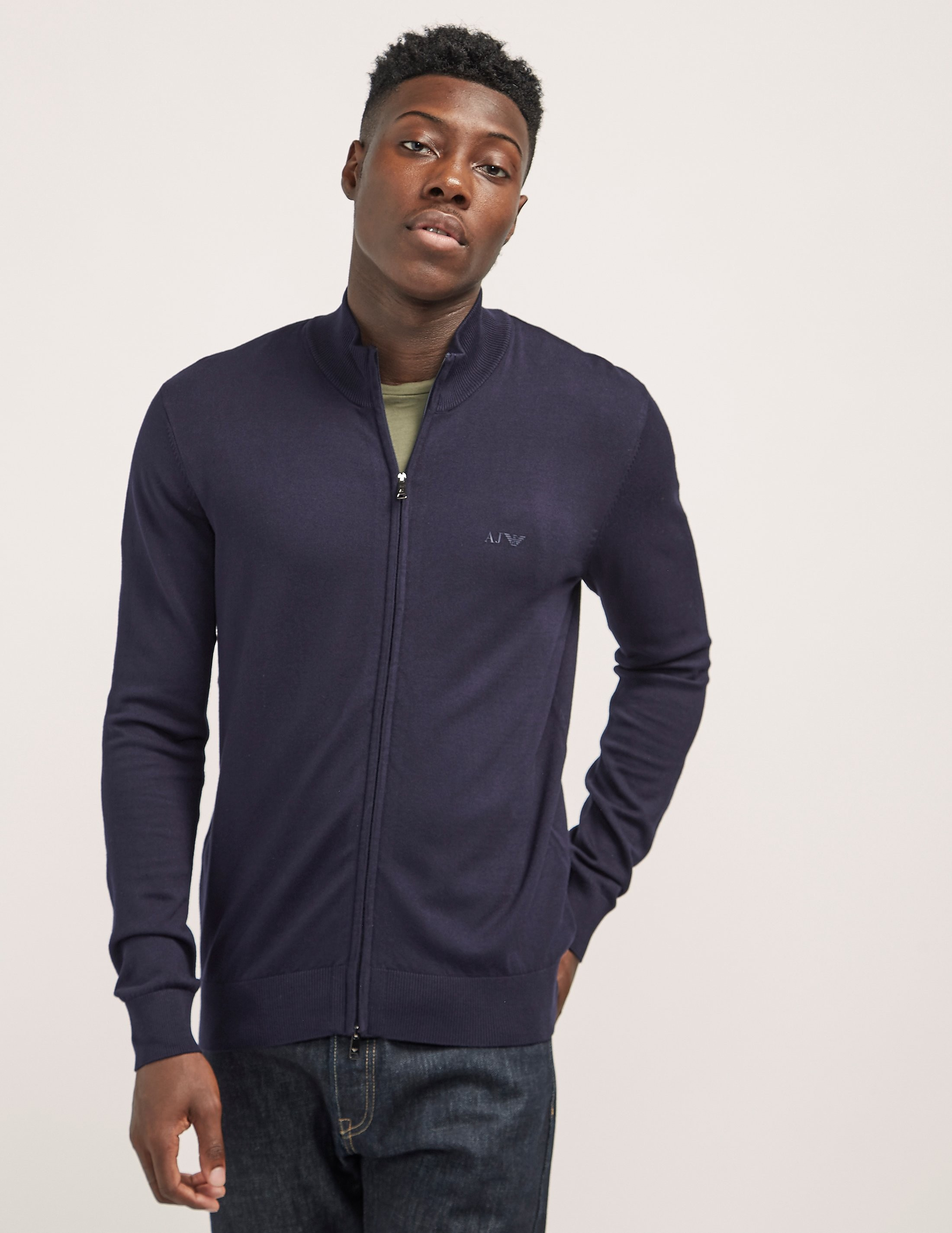 Armani Jeans Basic Full Zip Knit