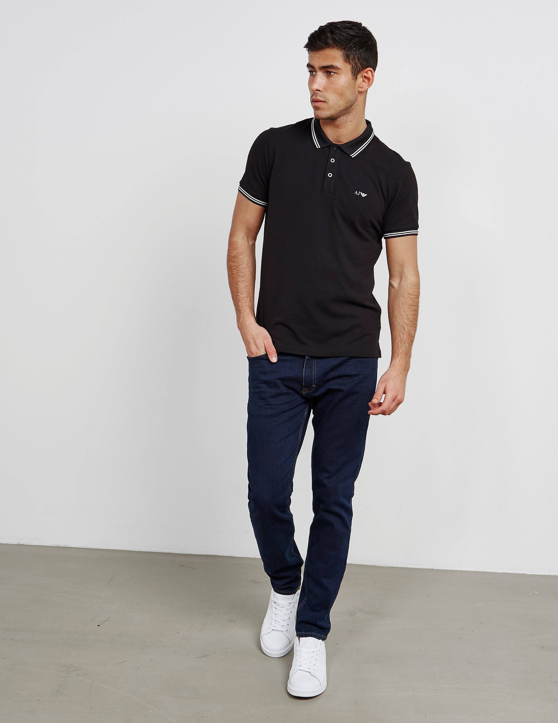 Armani Jeans Twin Tipped Short Sleeve Polo Shirt