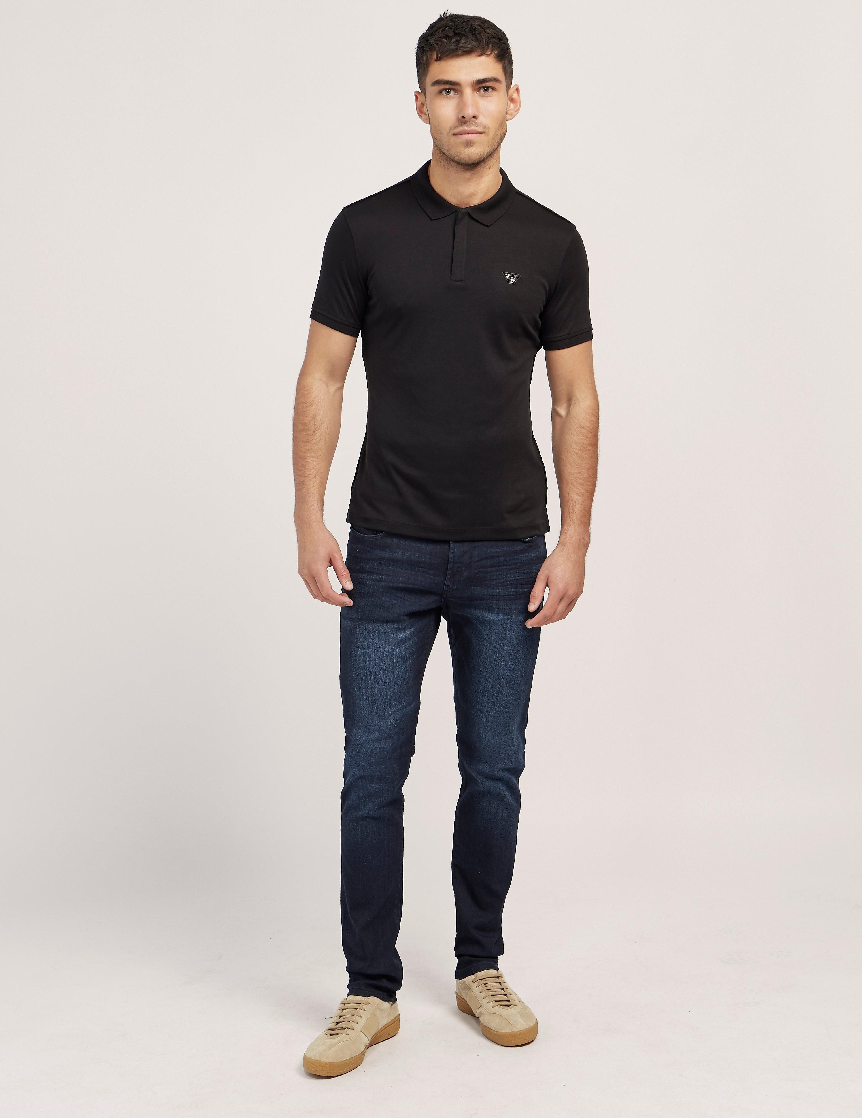 Armani Jeans Jersey Short Sleeve Polo Shirt