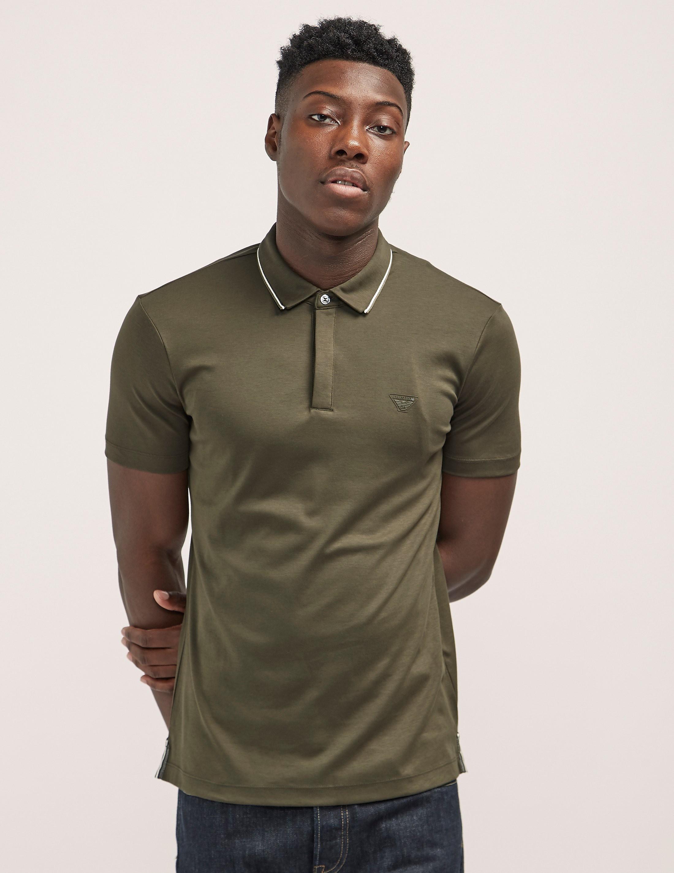 Armani Jeans Tipped Short Sleeve Polo Shirt
