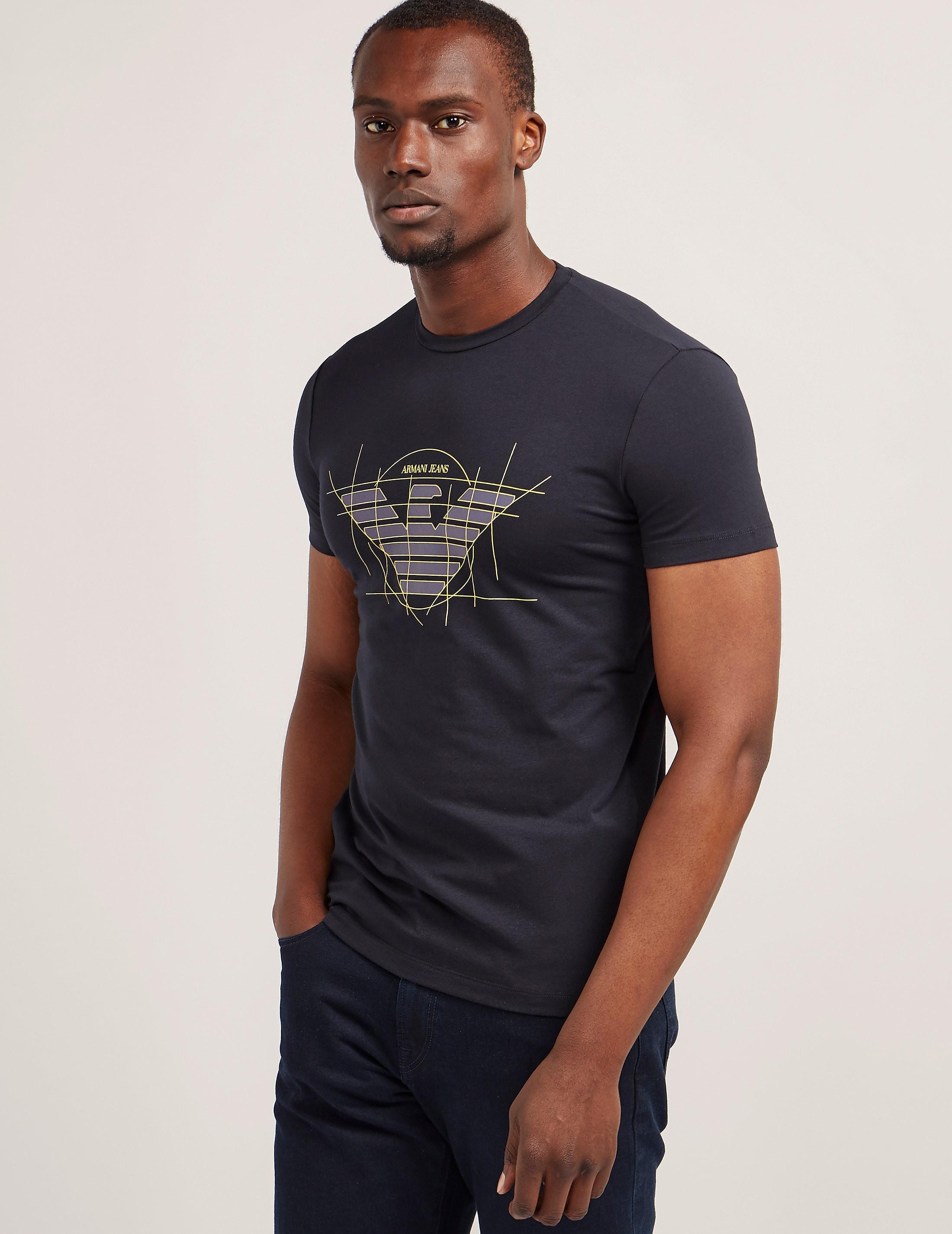 Armani Jeans Stencil Eagle Logo Short Sleeve T-Shirt