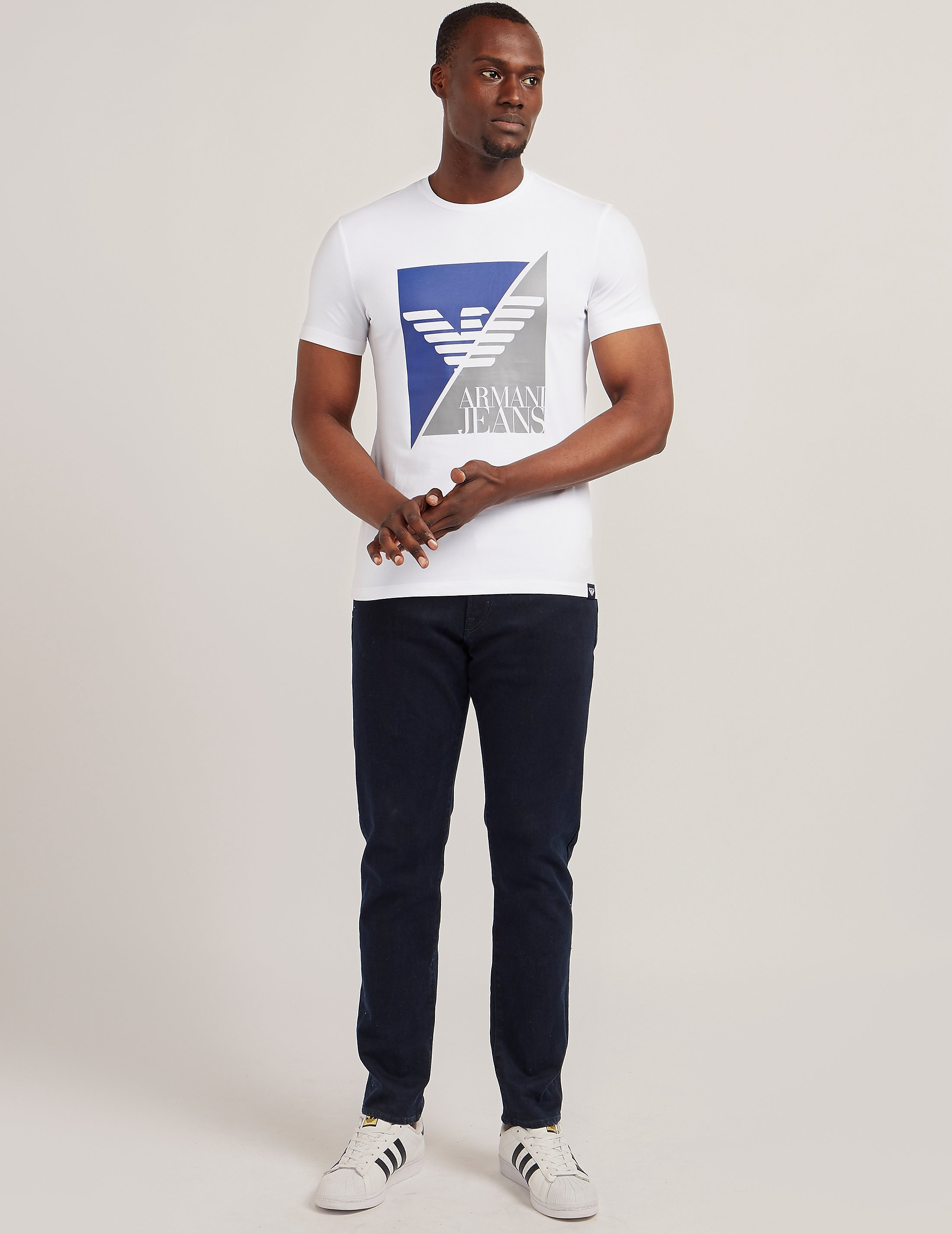Armani Jeans Sliced Eagle Logo Short Sleeve T-Shirt