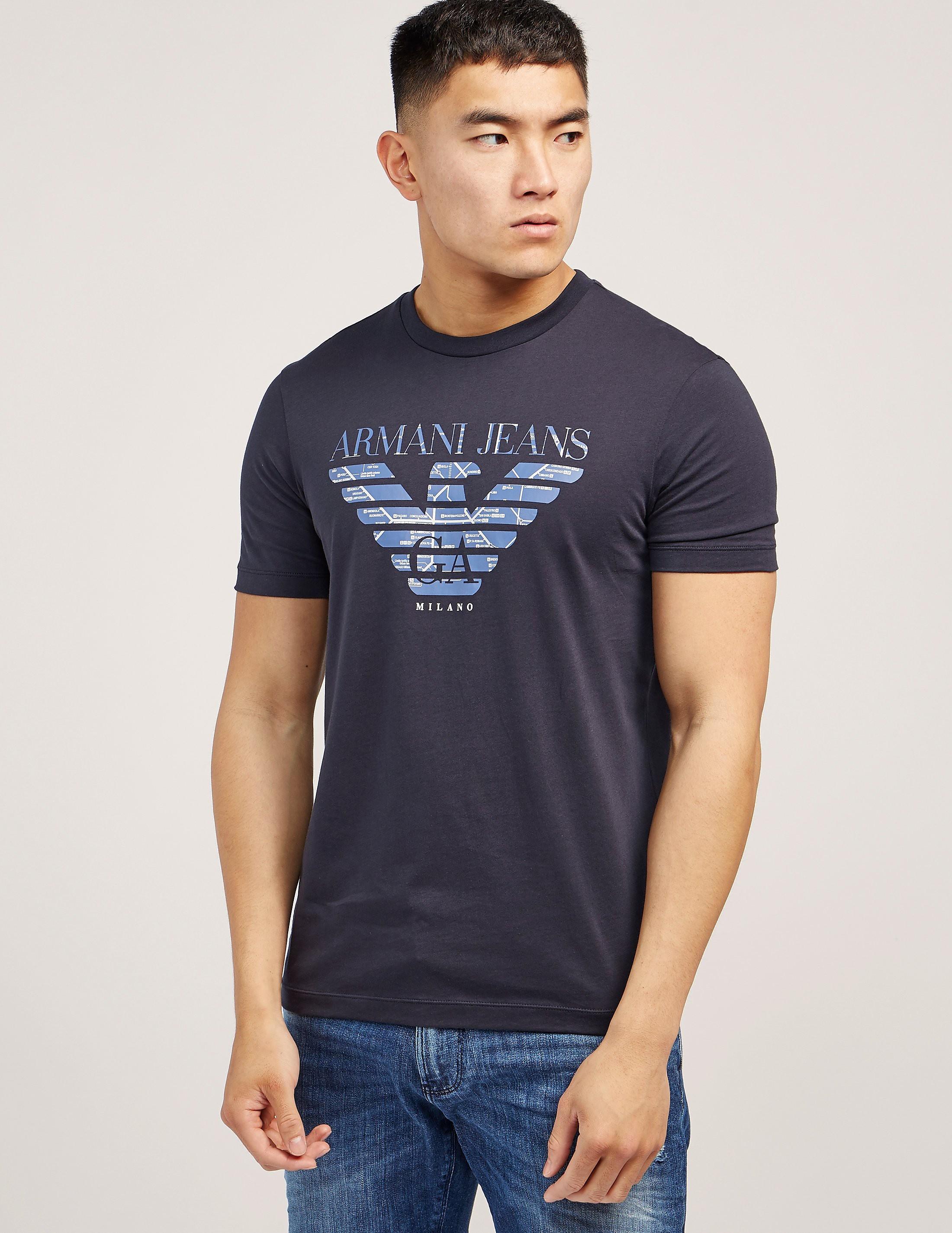Armani Jeans Large Eagle Logo Short Sleeve T-Shirt