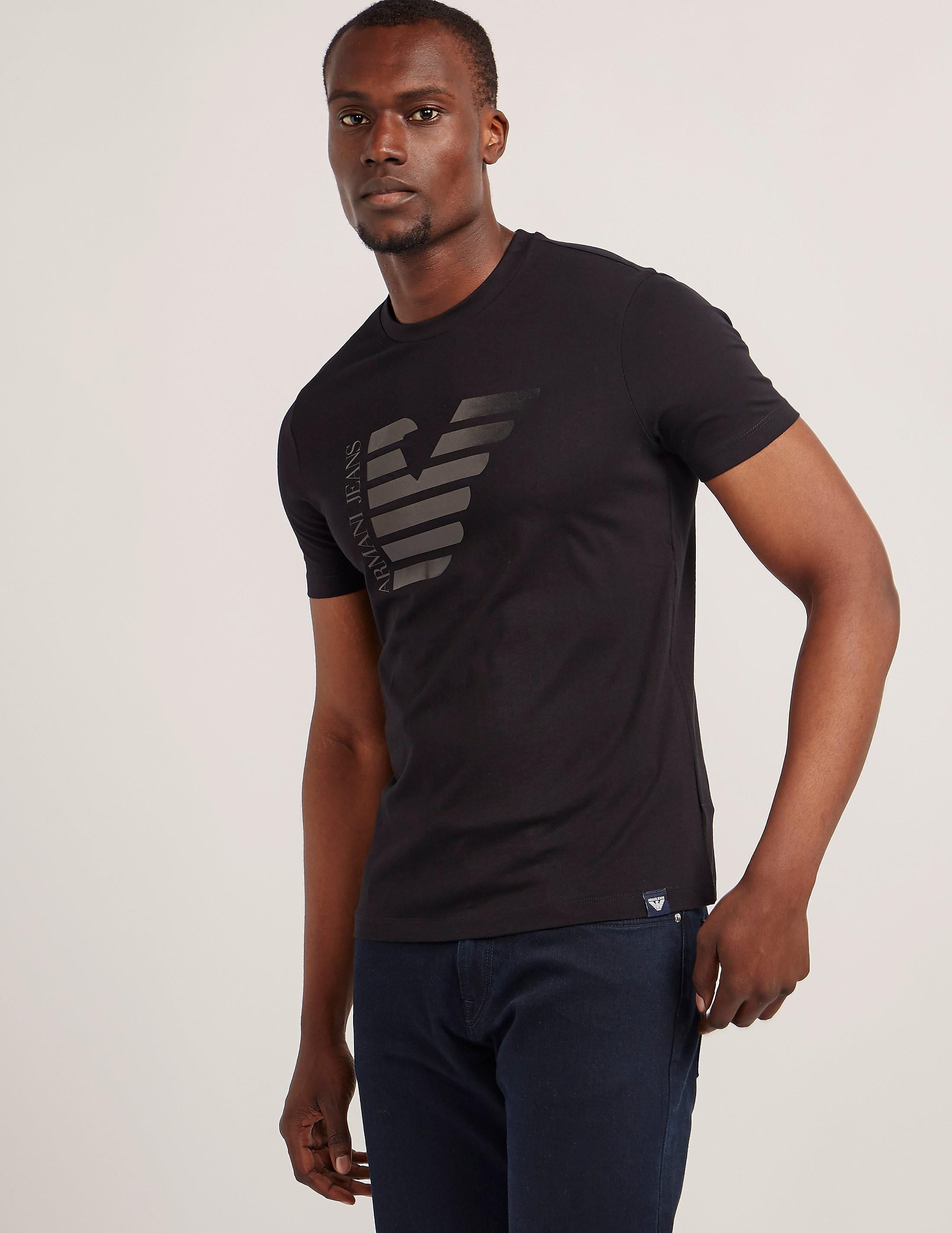 Armani Jeans Half Eagle Logo Short Sleeve T-Shirt