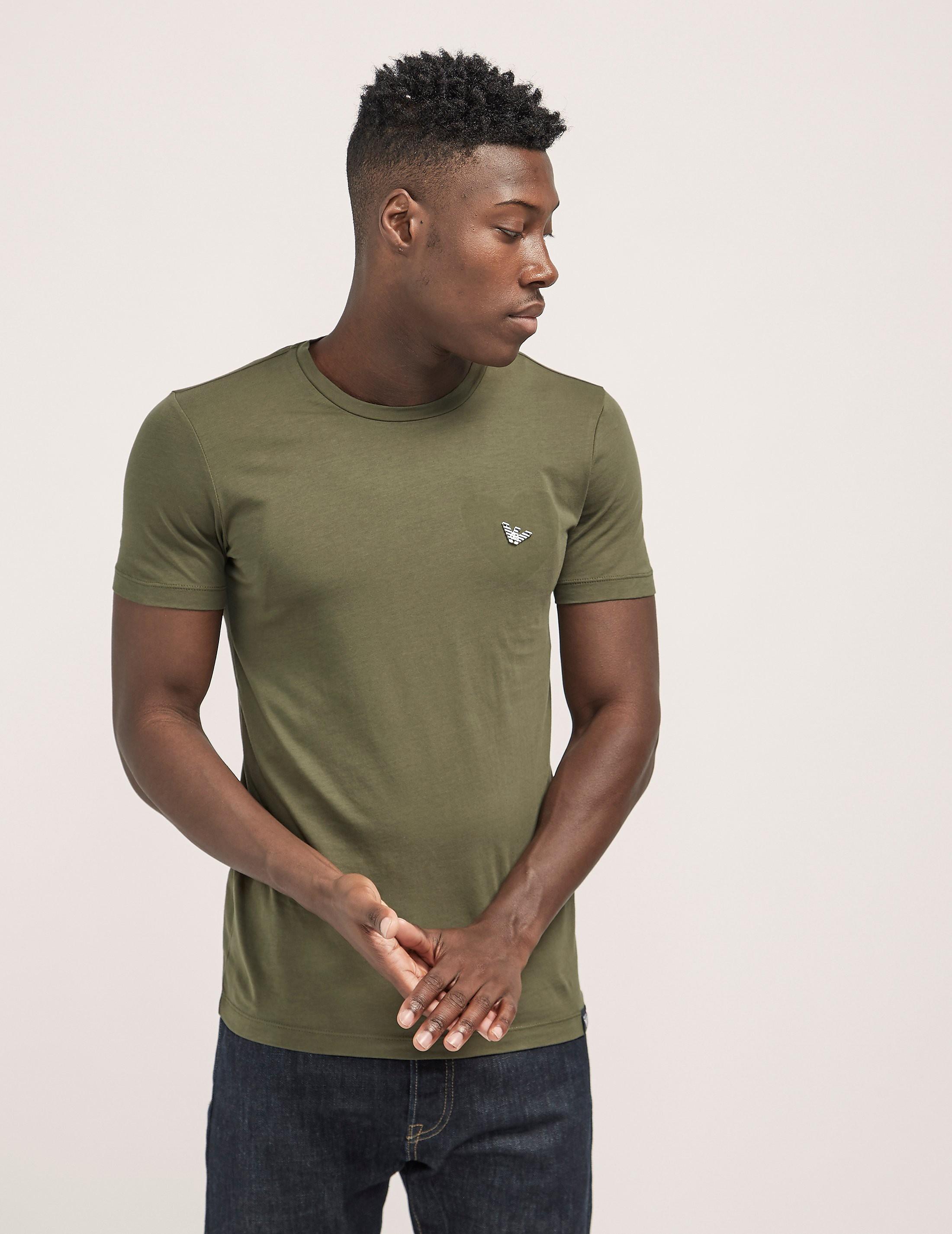 Armani Jeans Heart Eagle Logo Short Sleeve T-Shirt