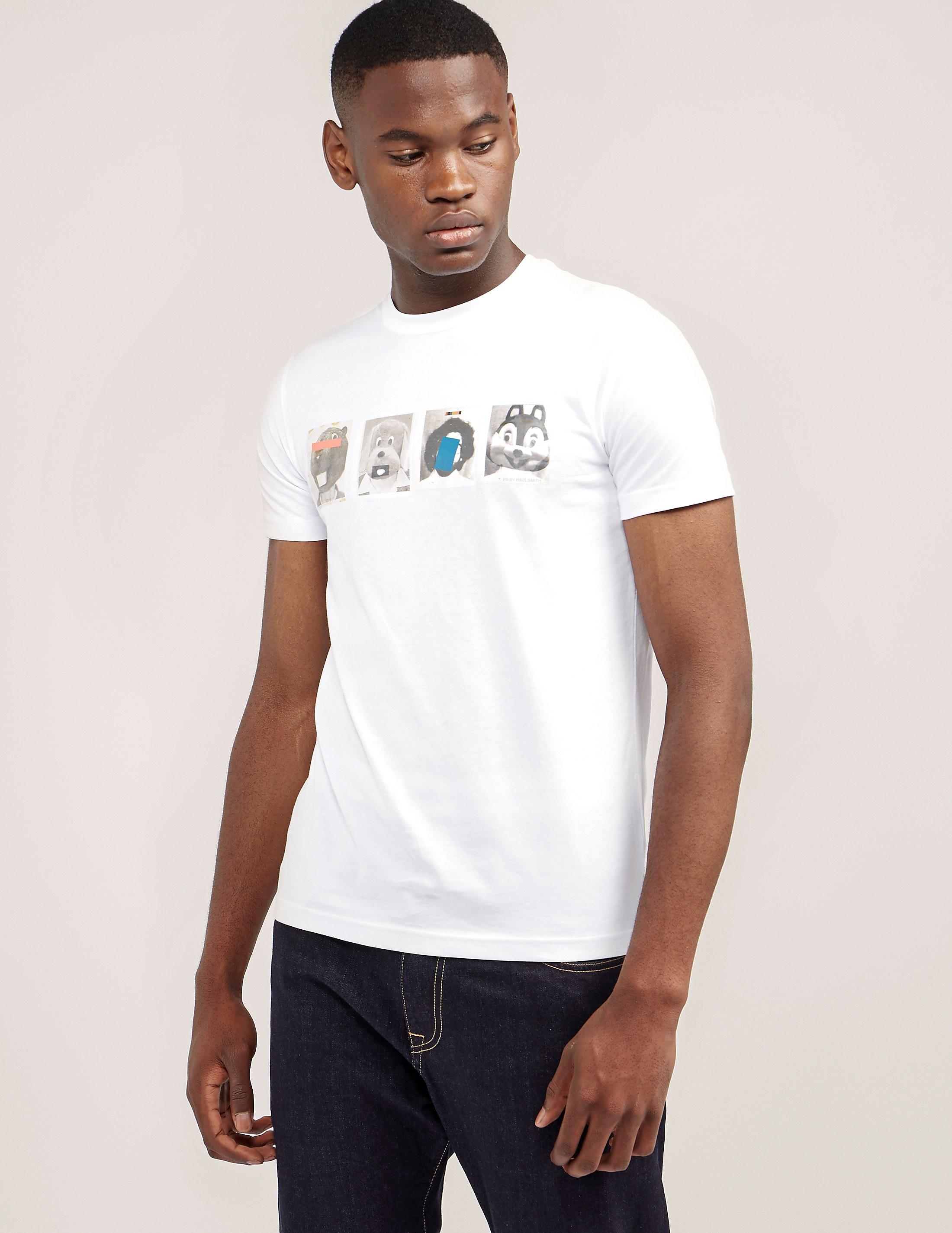 Paul Smith Mascots Print Short Sleeve T-Shirt