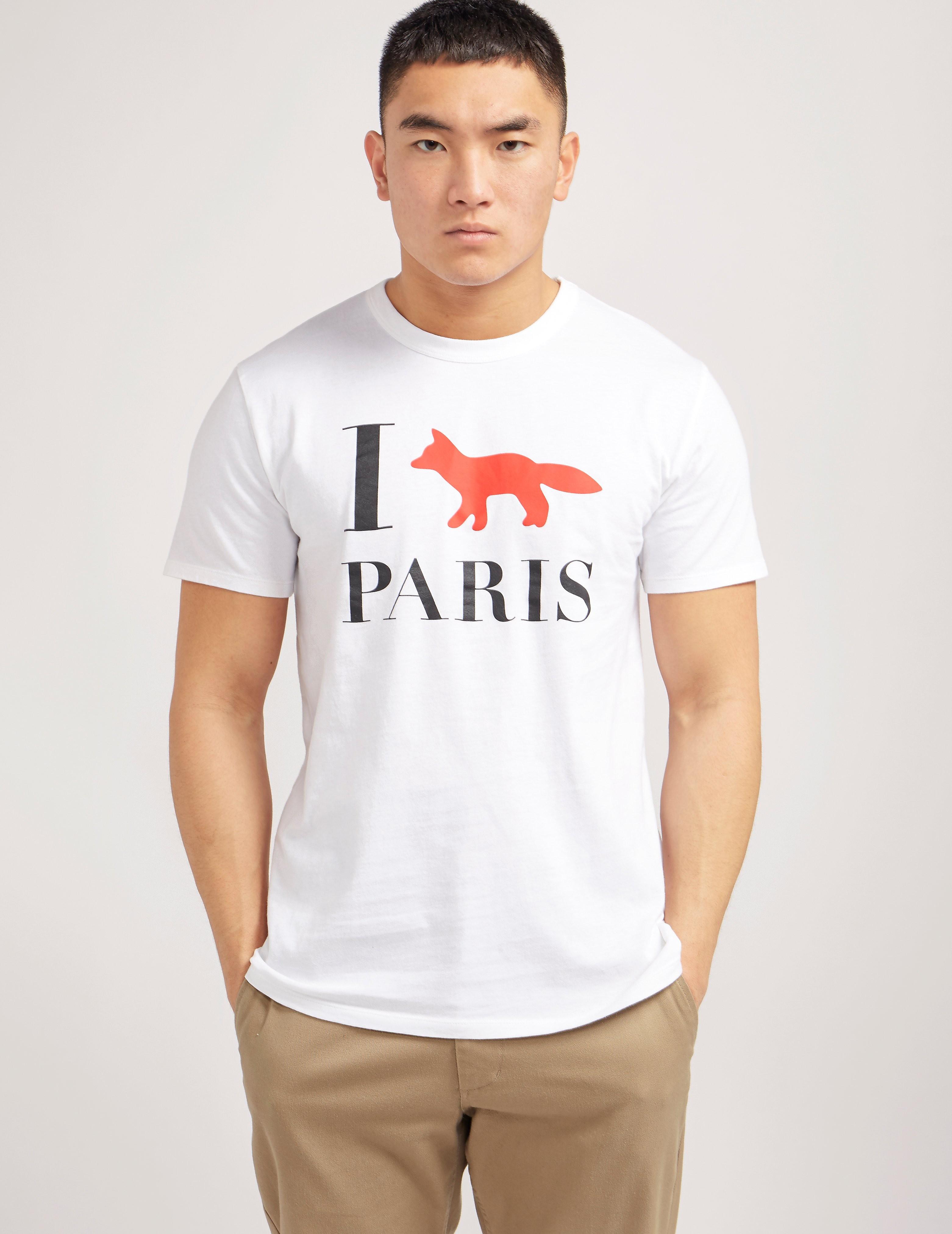 Maison Kitsune I Fox Paris Short Sleeve T-Shirt