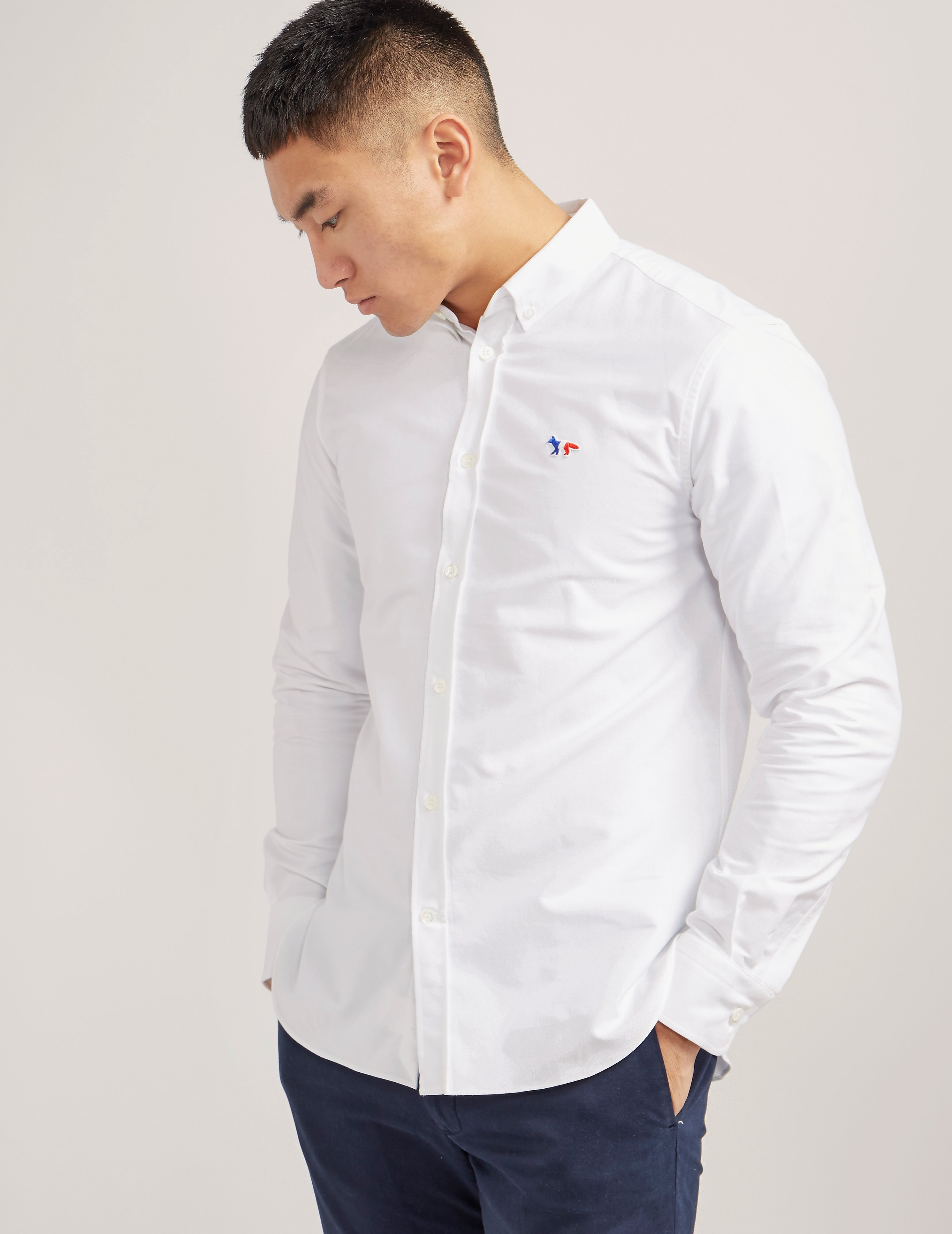 Maison Kitsune Tricolour Fox Oxford Shirt