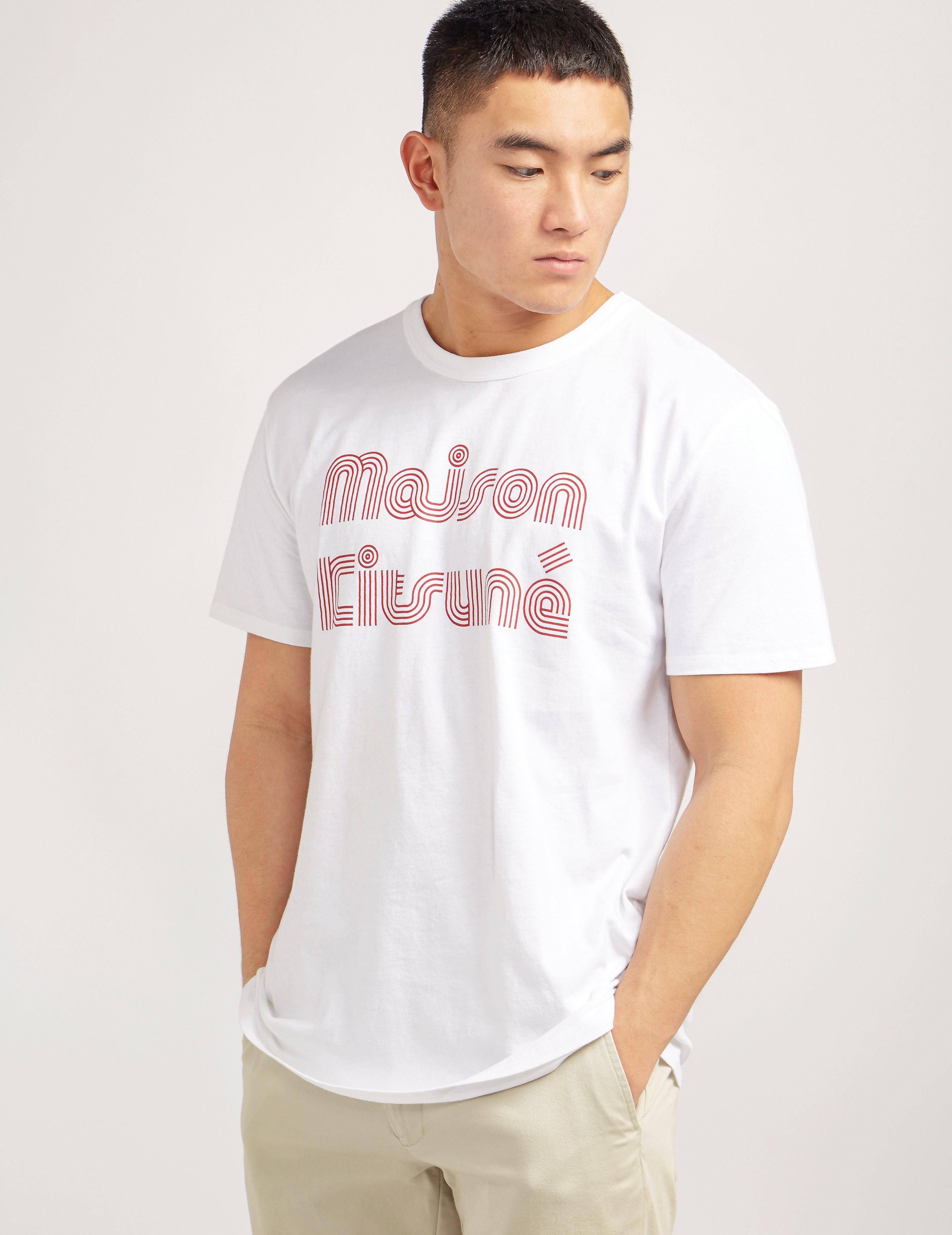 Maison Kitsune Stripe Logo T-Shirt