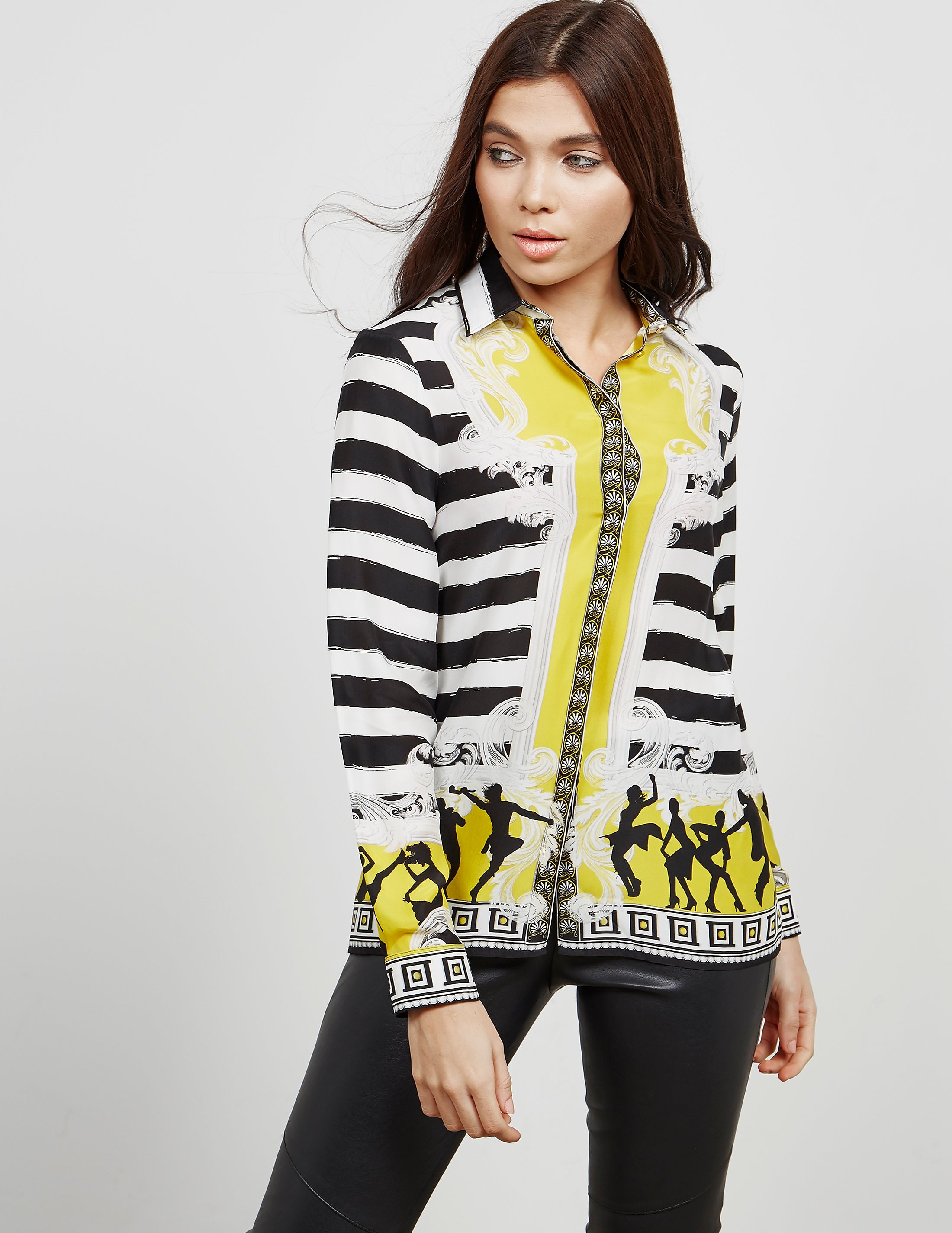 Versace Silk Long Sleeve Shirt