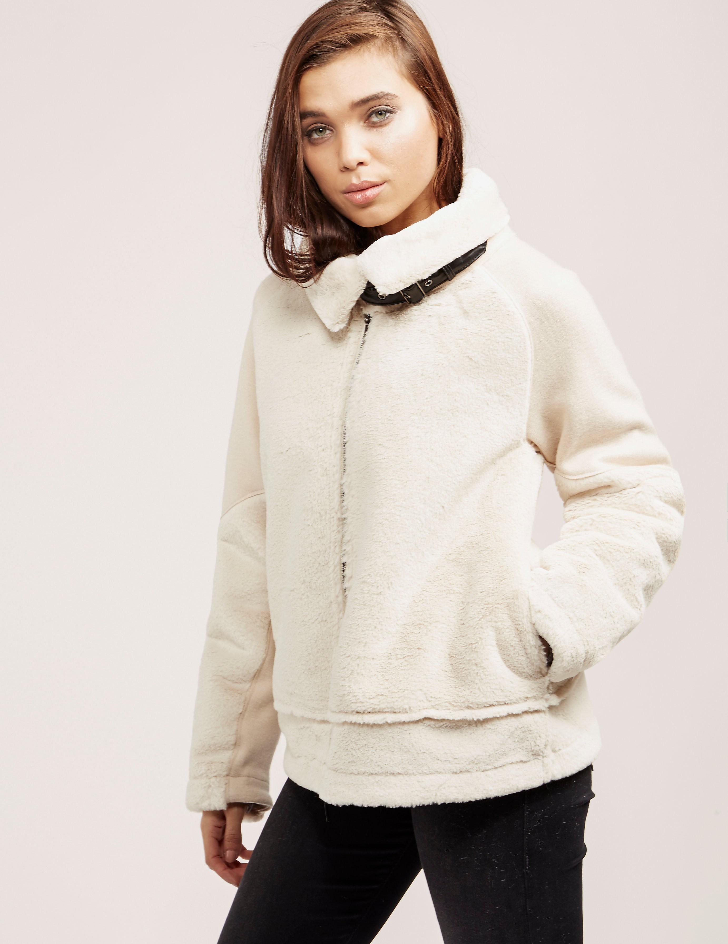Armani Jeans Fur Bomber Jacket - Online Exclusive