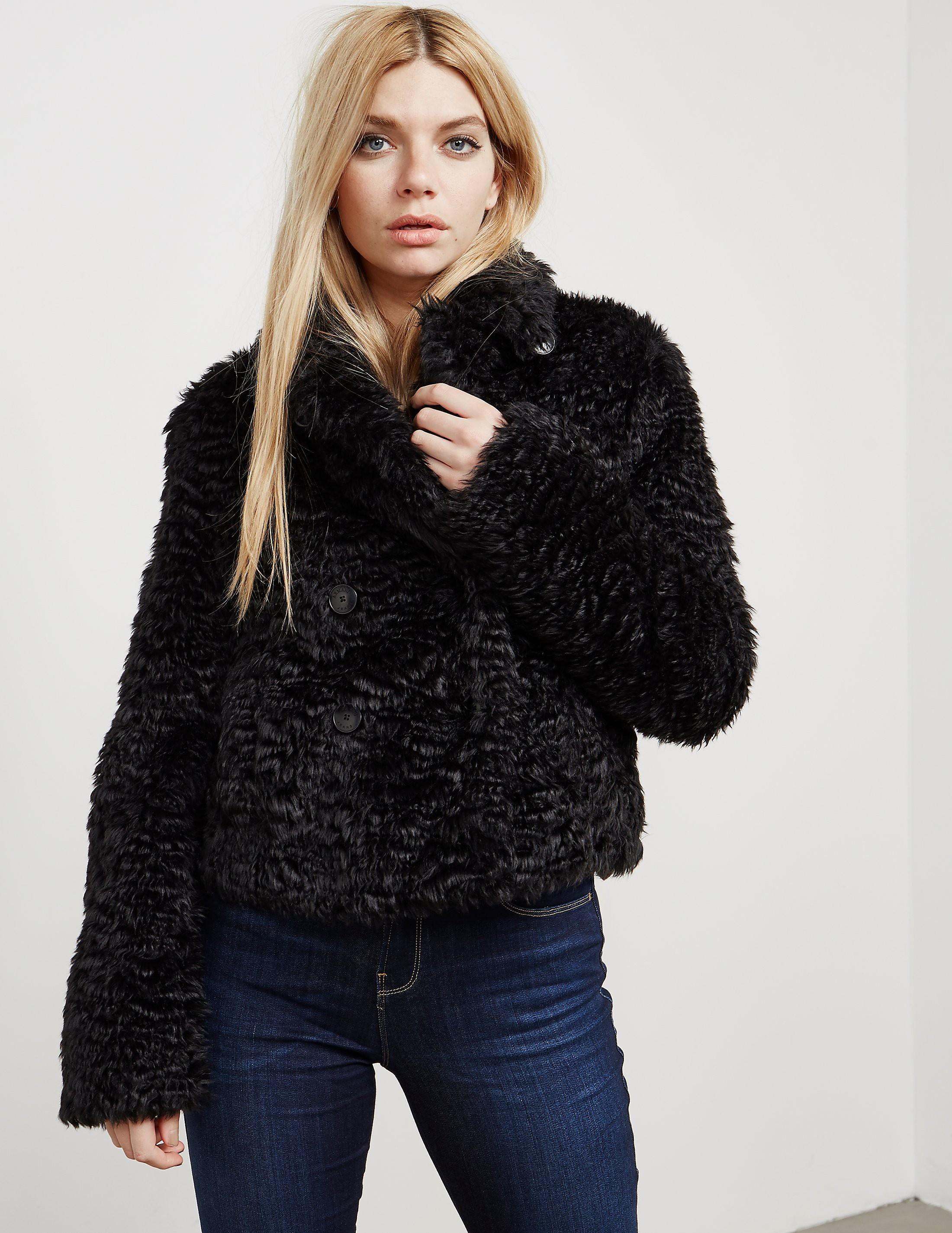 Armani Jeans Fax Fur Jacket