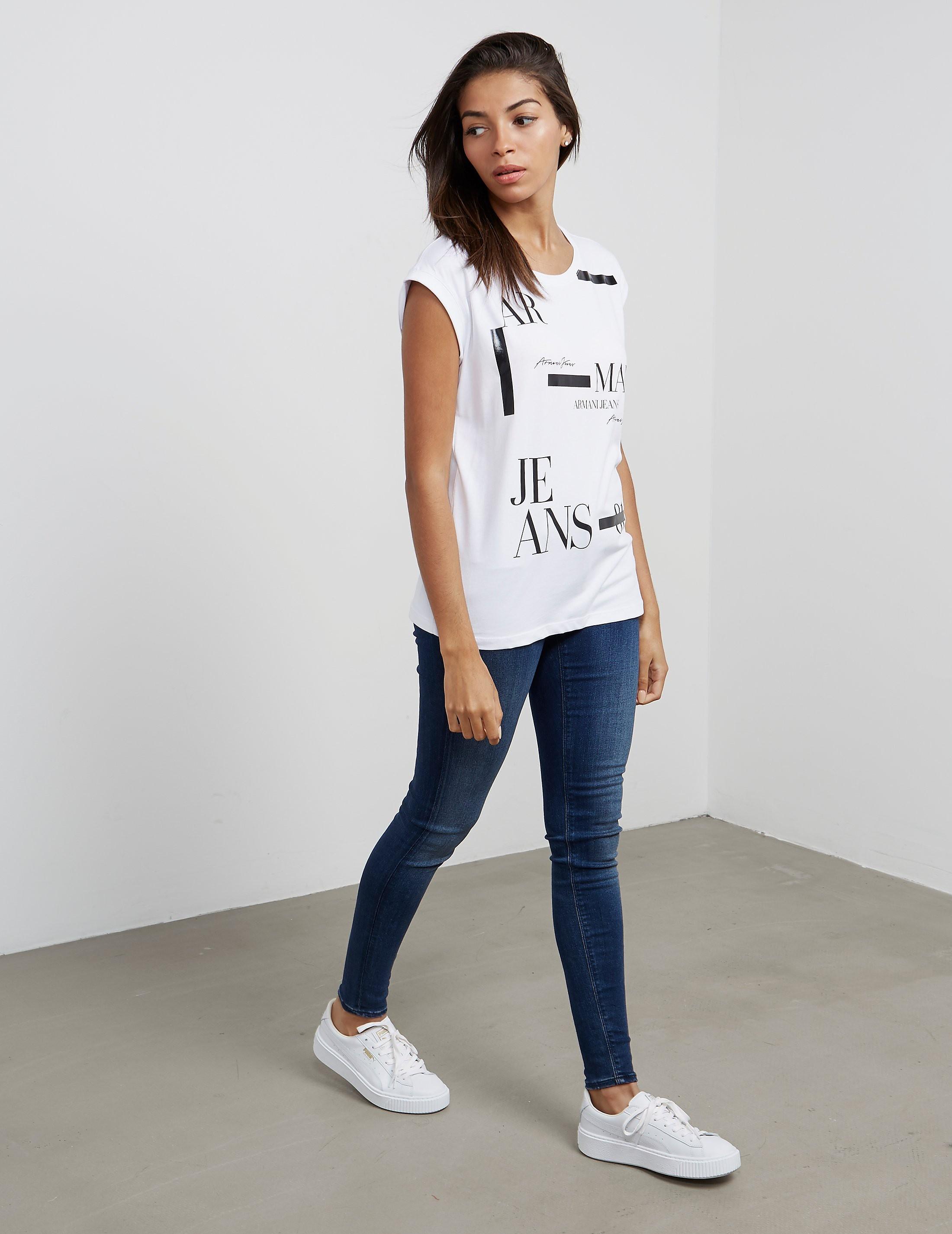 Armani Jeans Monochrome Short Sleeve T-Shirt
