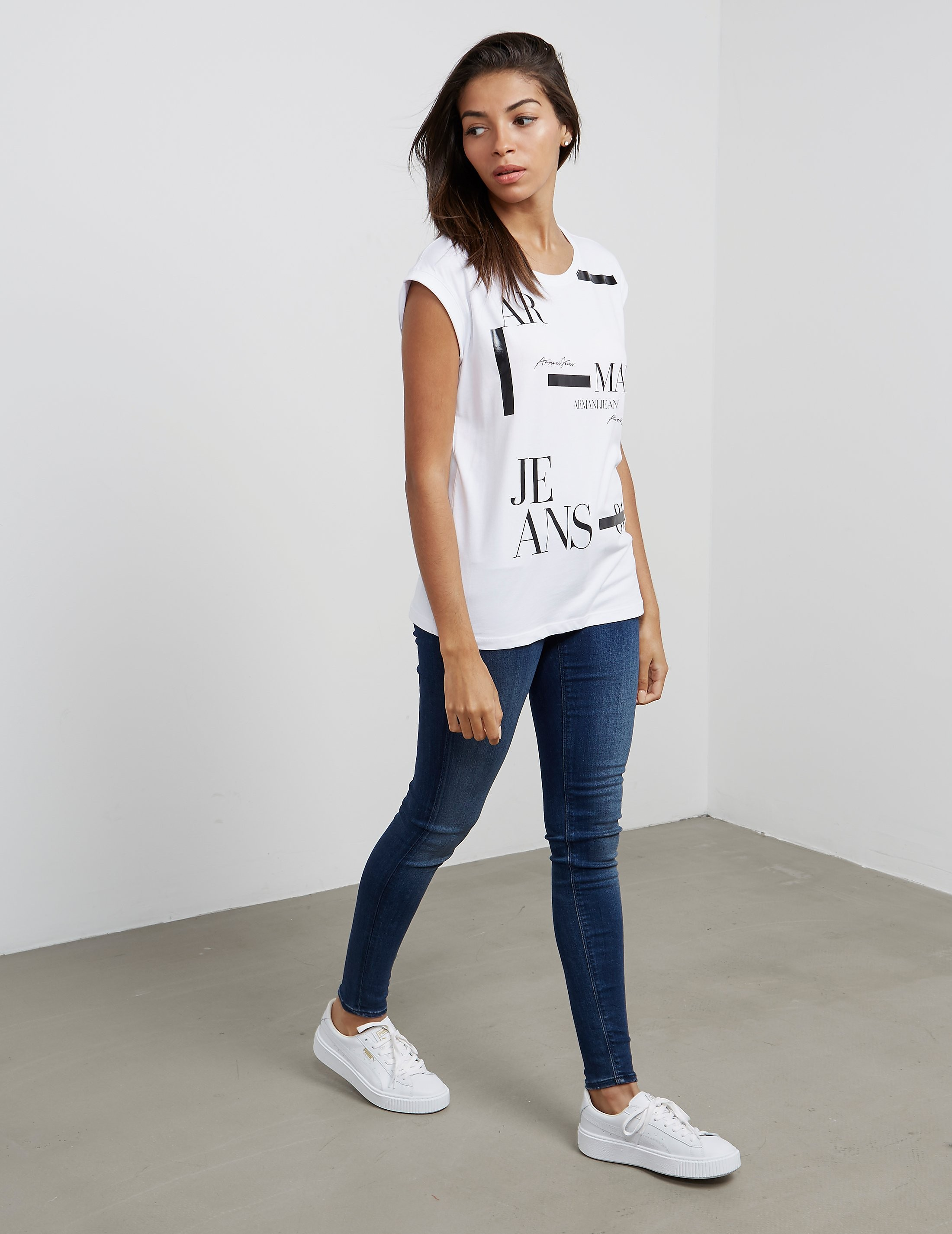 Armani Jeans Monochrome Short Sleeve T-Shirt