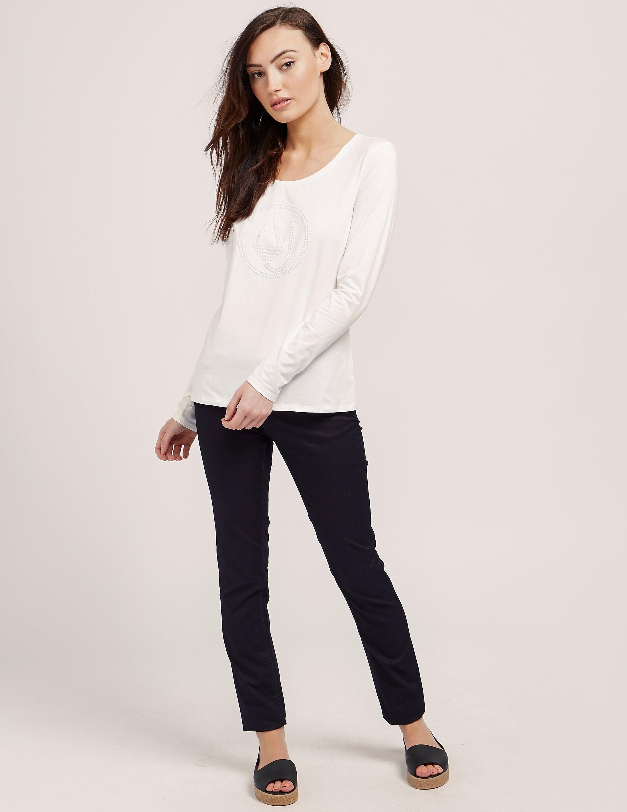 Armani Jeans Long Sleeve Logo T-Shirt