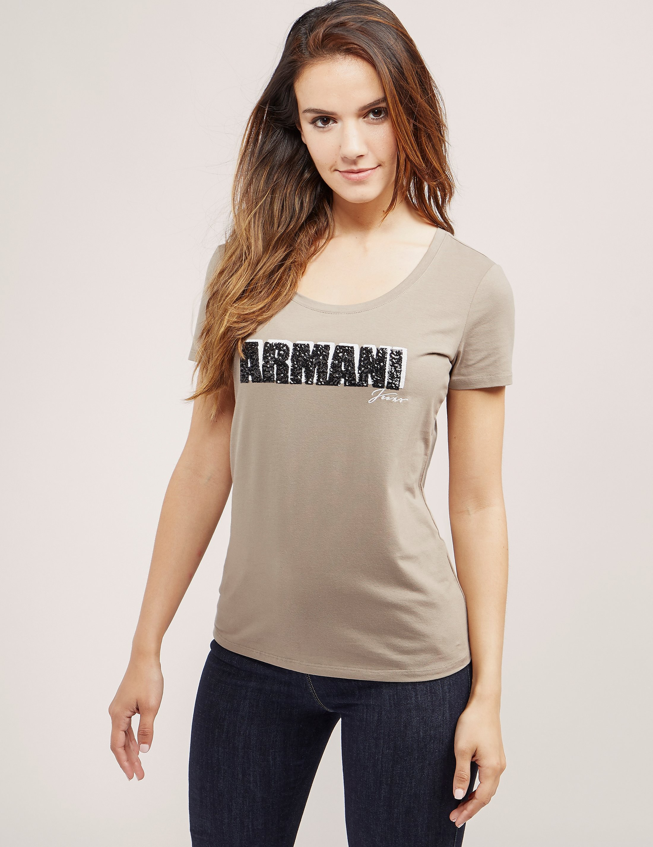 Armani Jeans Sequin Short Sleeve T-Shirt