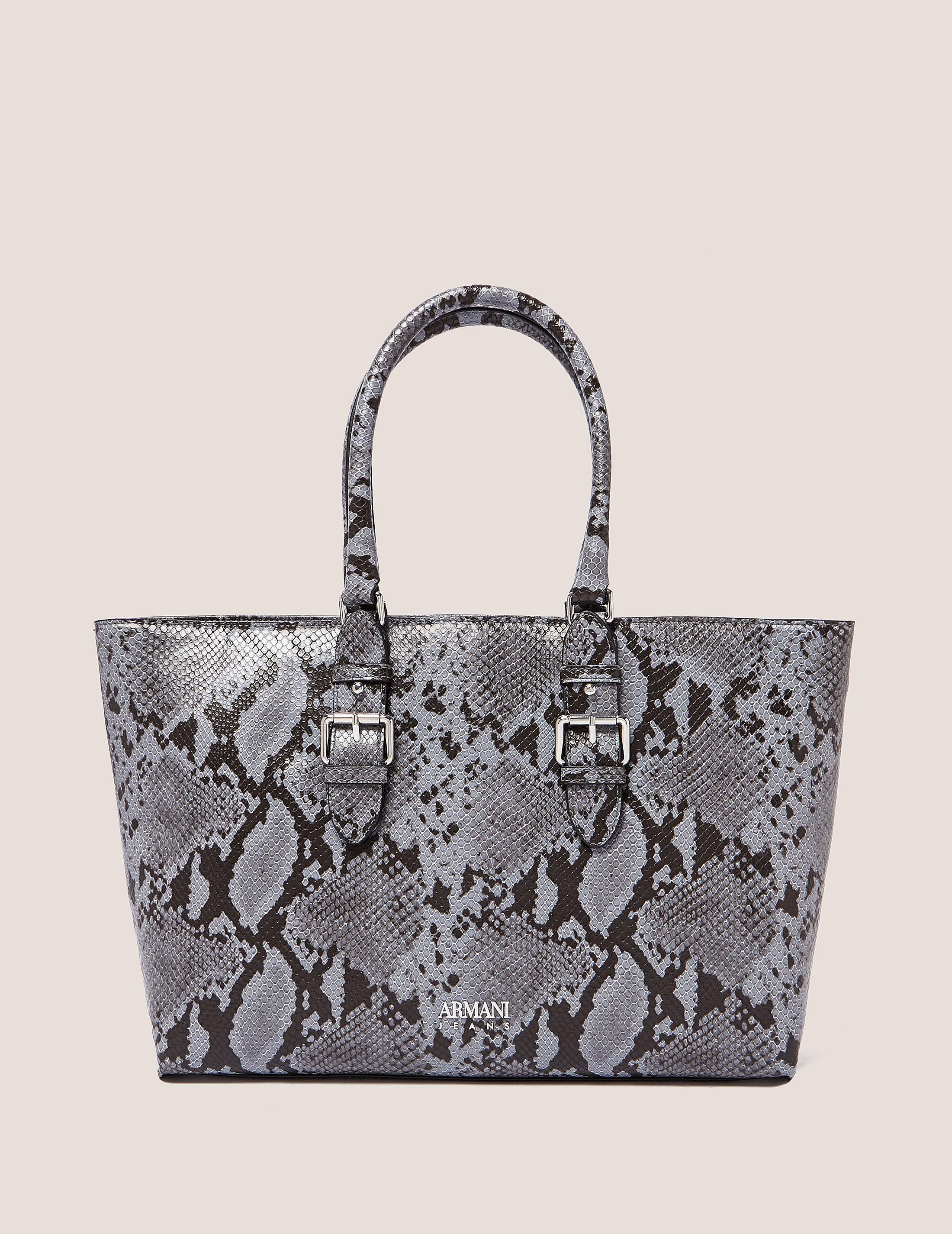 Armani Jeans Snakeskin Shopper Bag