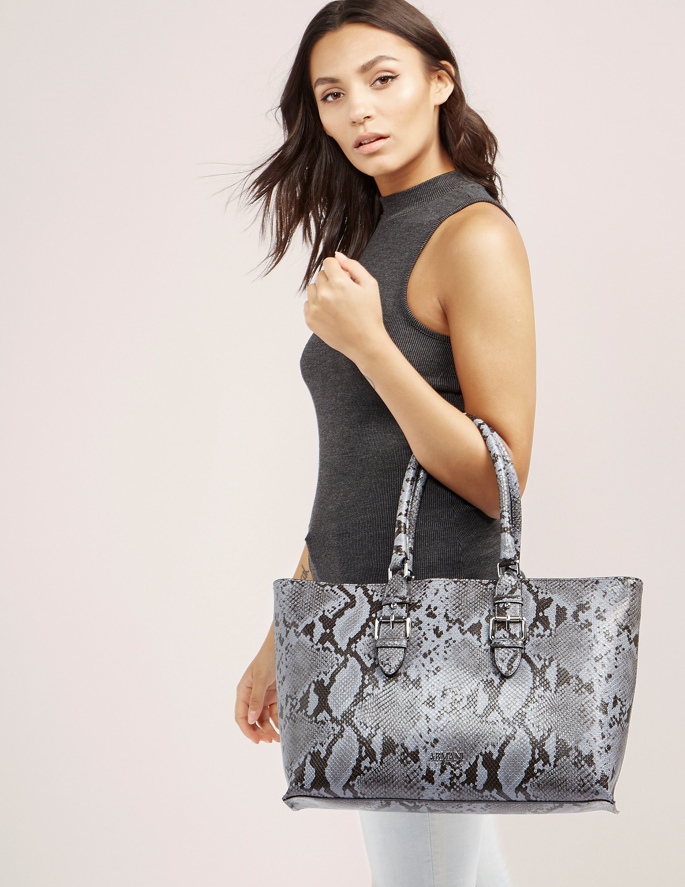 Armani Jeans Snakeskin Shopper Bag