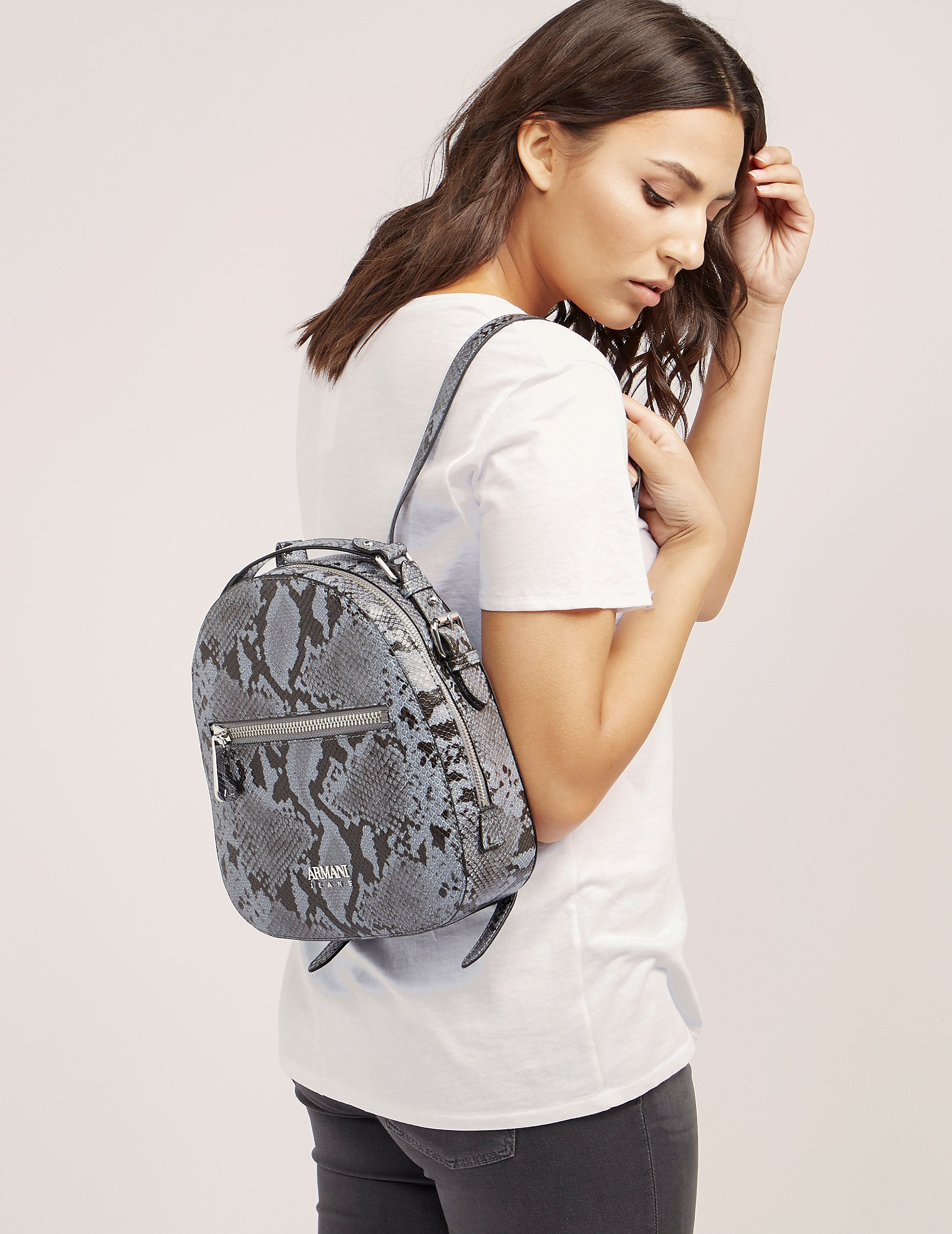 Armani Jeans Snakeskin Backpack