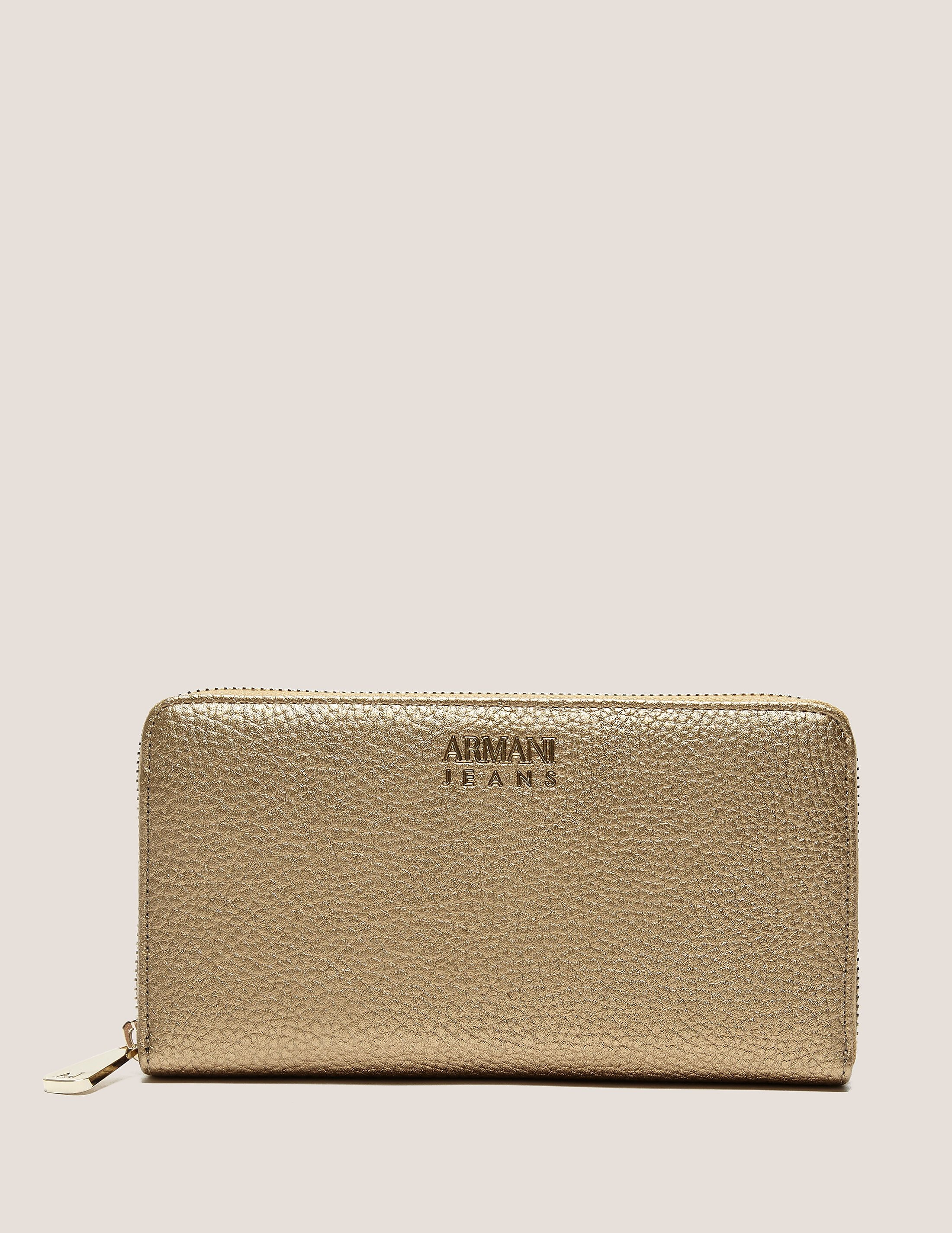 Armani Jeans Metallic Zip Purse