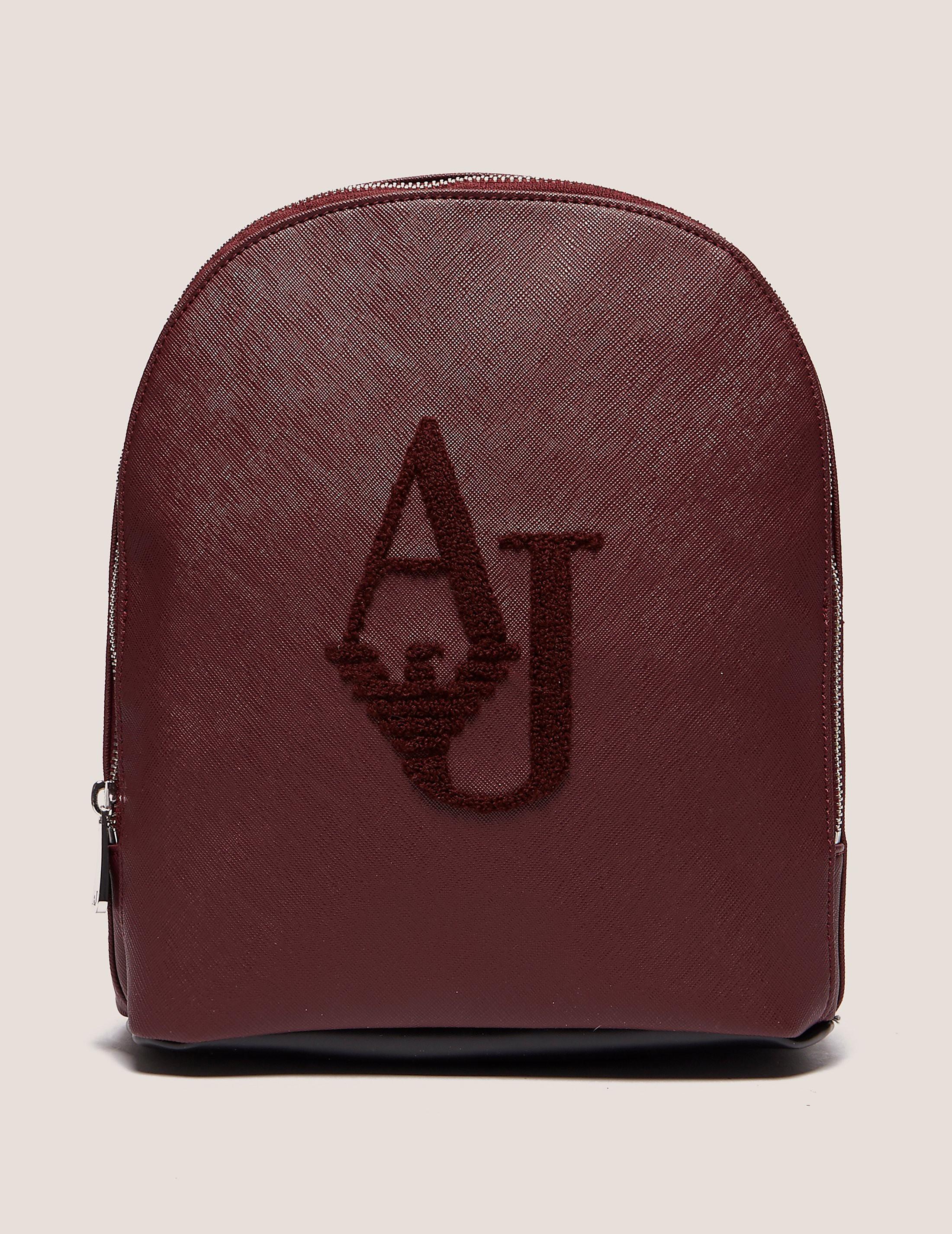 Armani Jeans Flocked Logo Backpack
