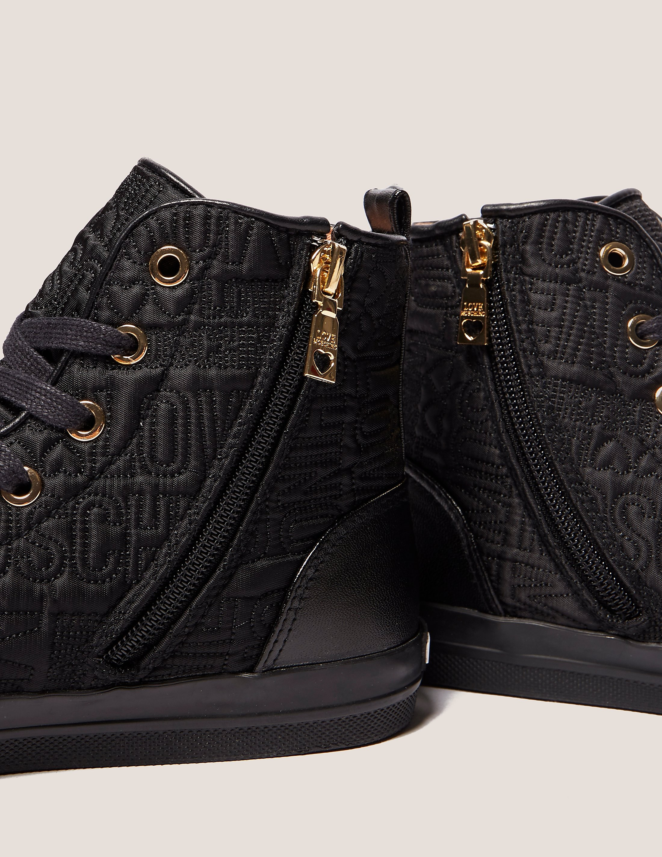 Love Moschino Textured High Tops