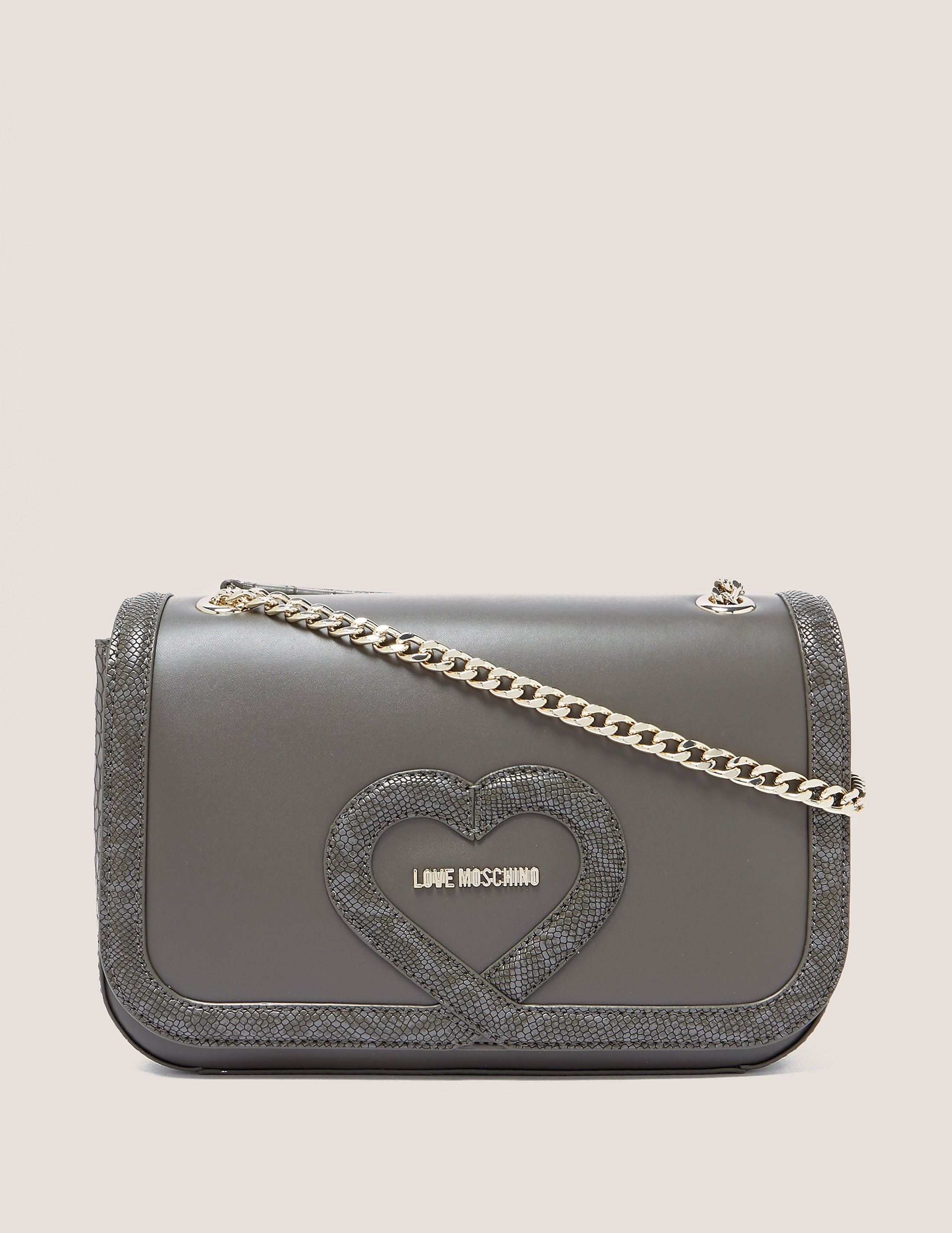 Love Moschino Snake Print Shoulder Bag