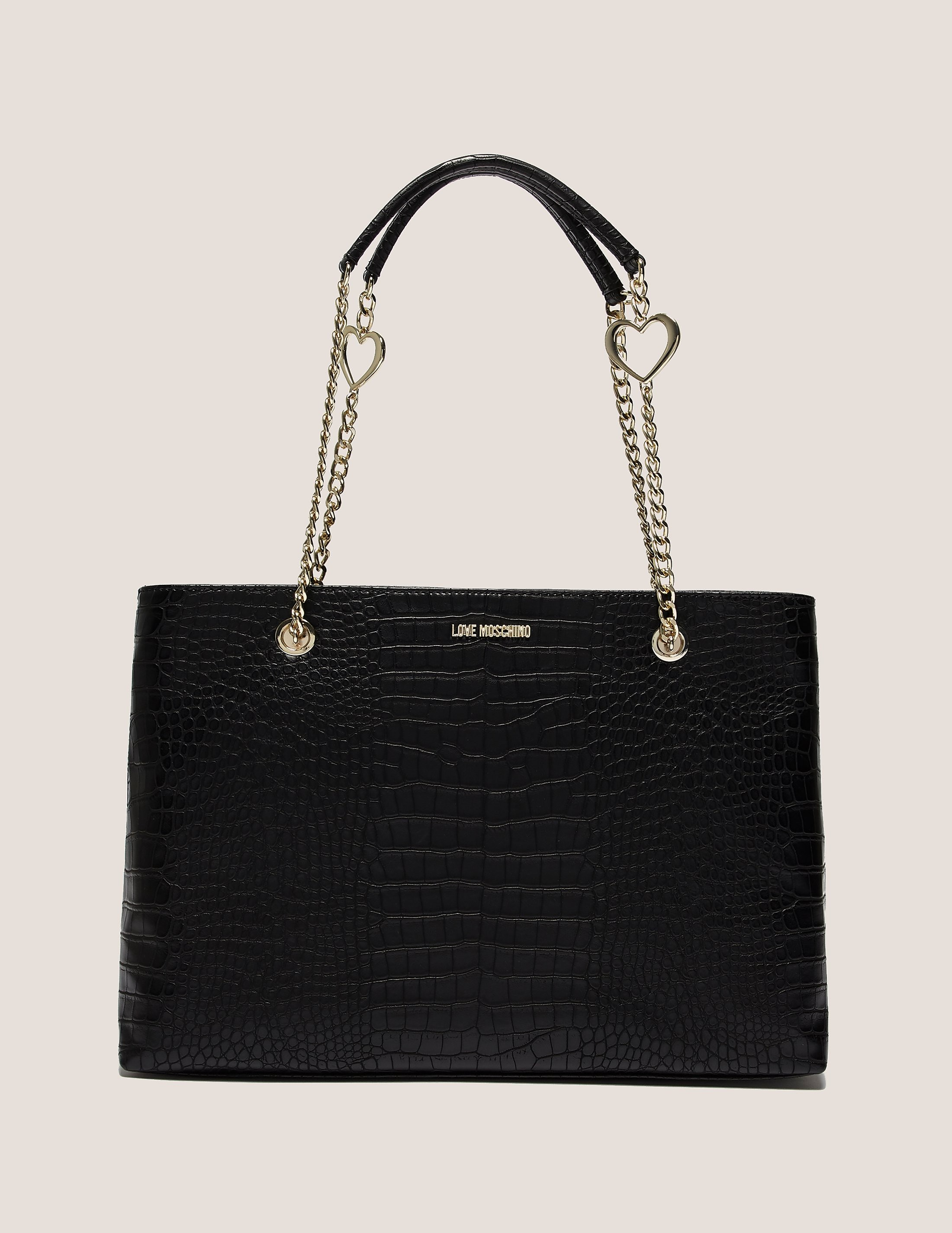 Love Moschino Mock Crocodile Shopper Bag