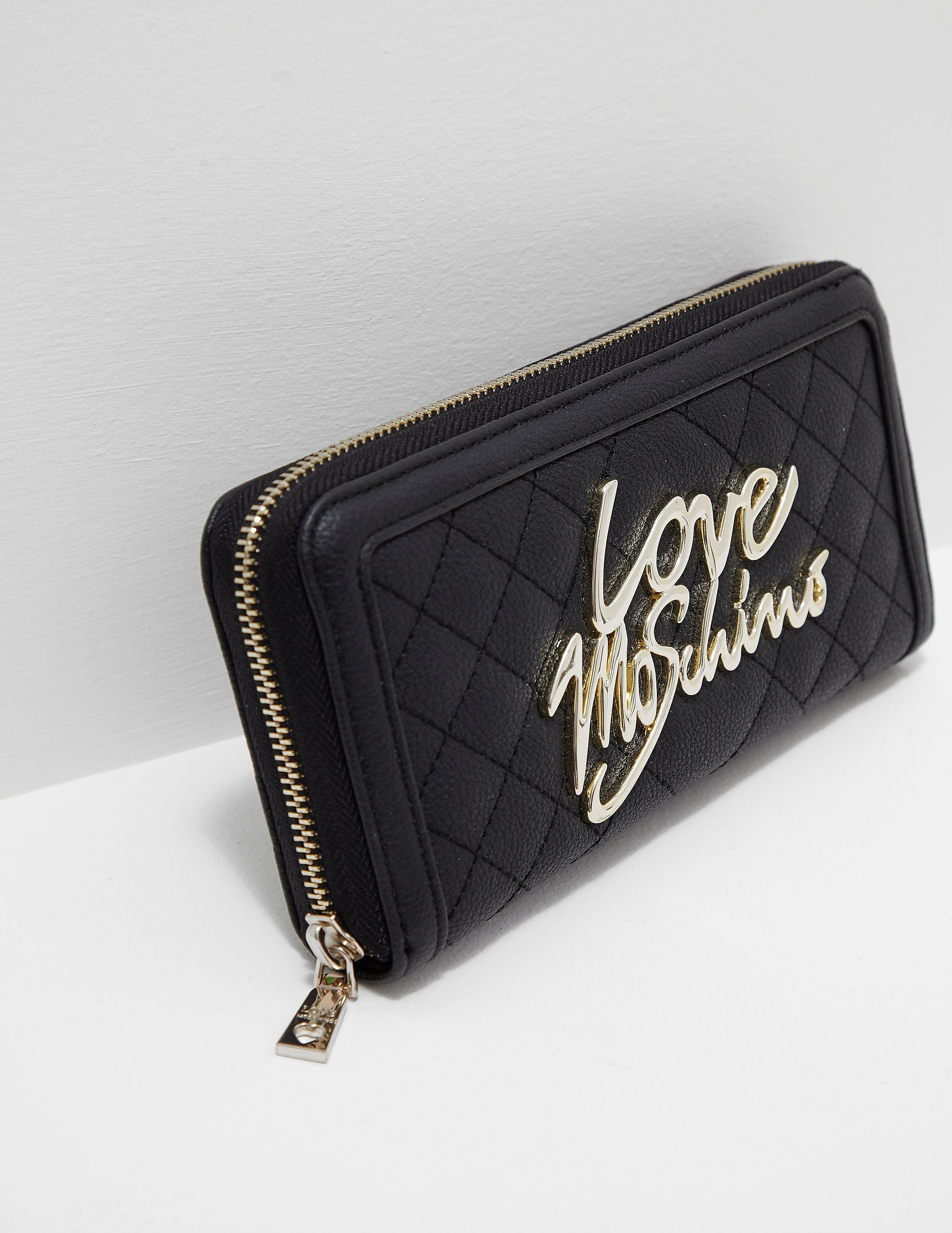 Love Moschino Quilted Script Logo Purse