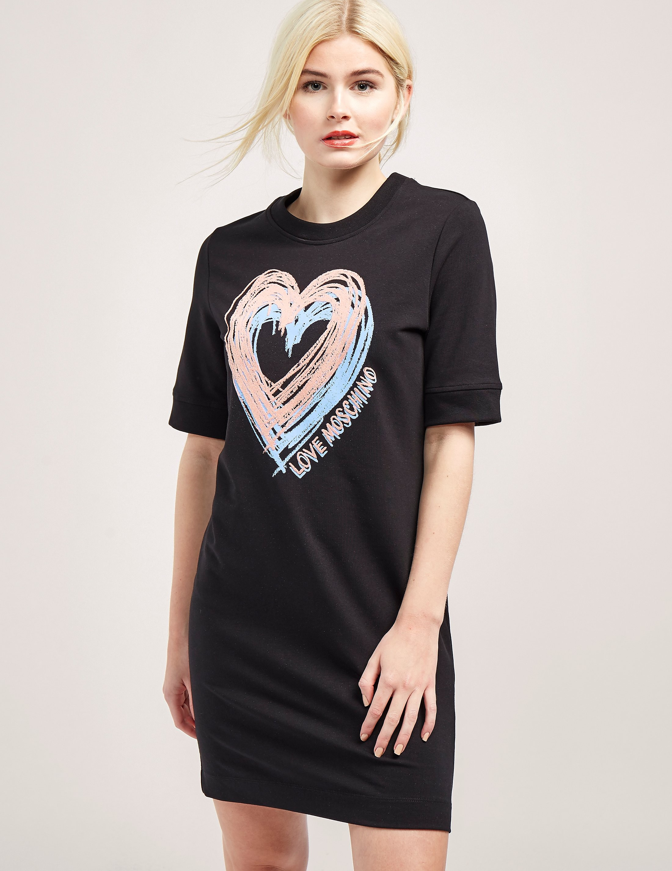 Love Moschino Heart Sweatshirt Dress