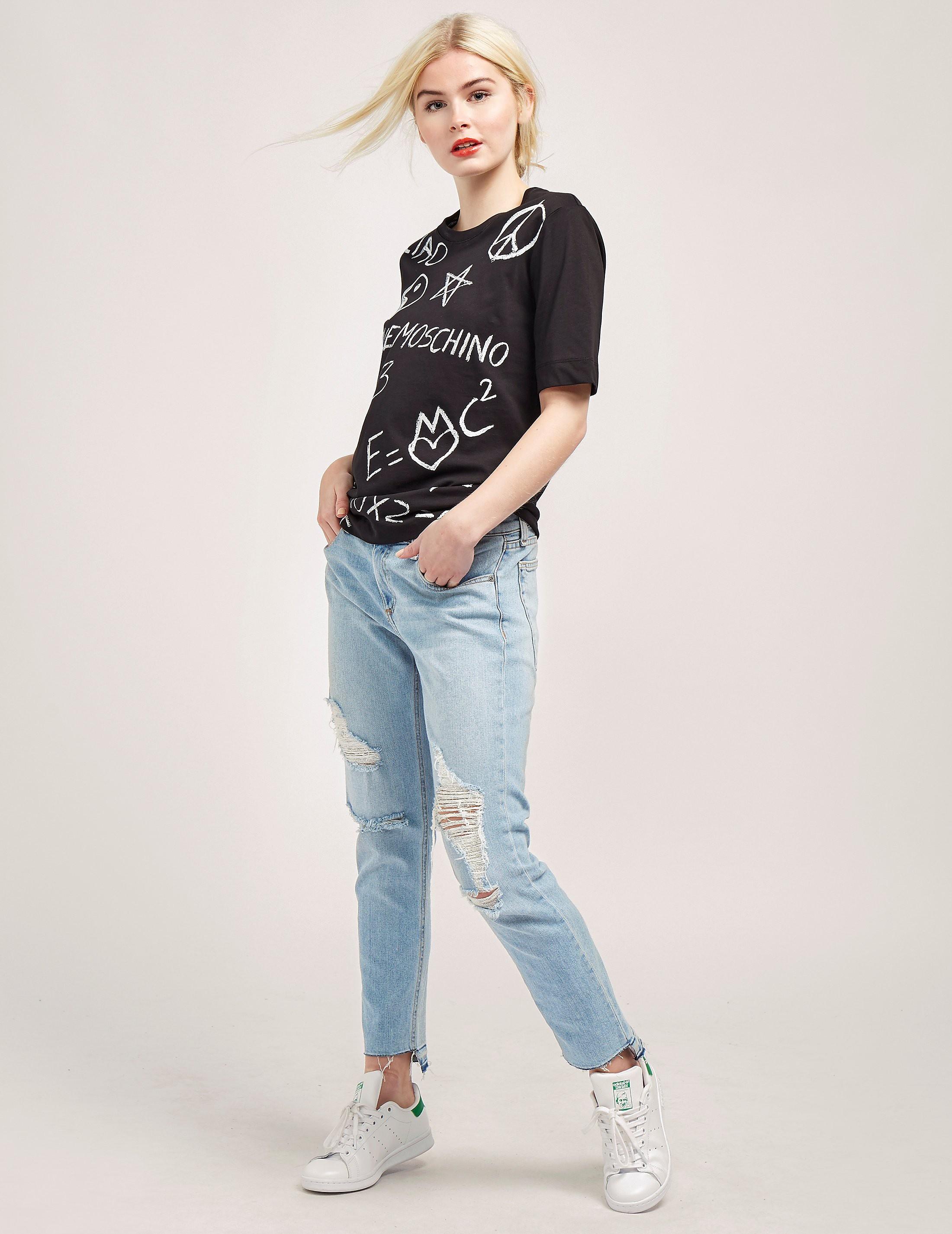 Love Moschino Doodle Short Sleeve T-Shirt